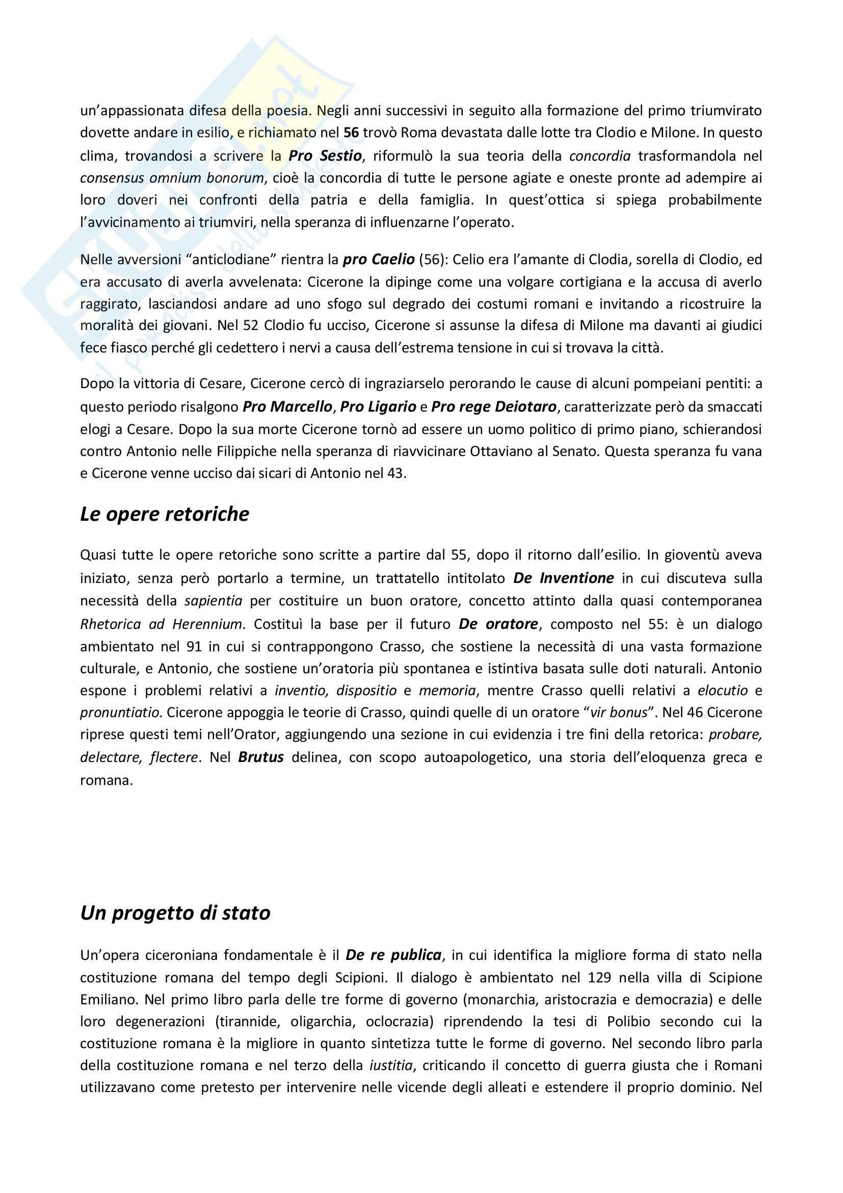 Riassunto esame Letteratura latina, prof. Delvigo, libro consigliato Letteratura latina: età di Cesare, Conte Pag. 2
