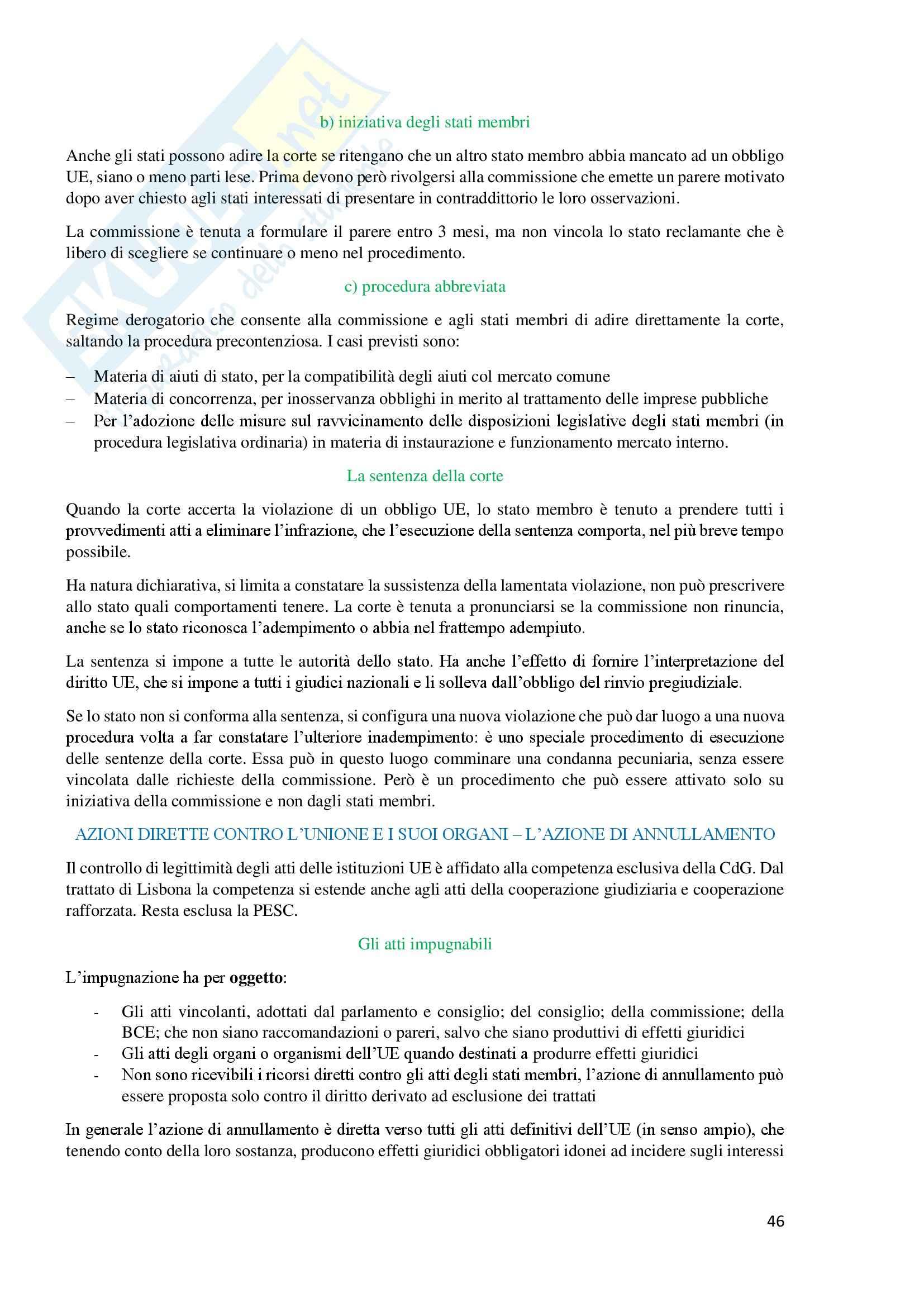 Lezioni, Diritto dell'Unione Europea Pag. 46