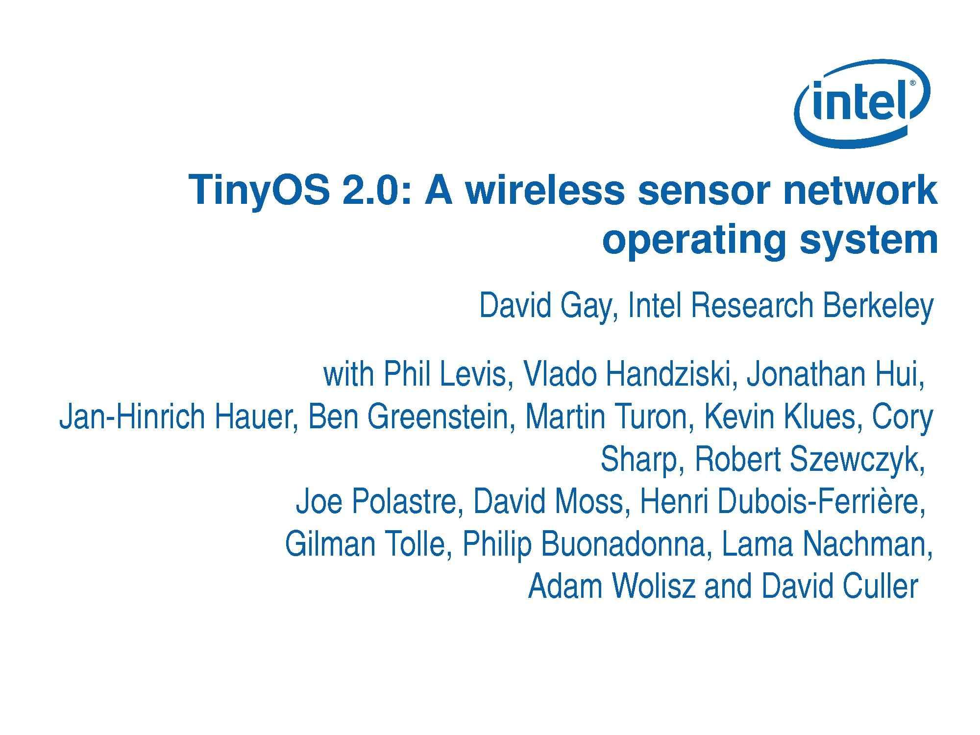 TinyOS 2.0