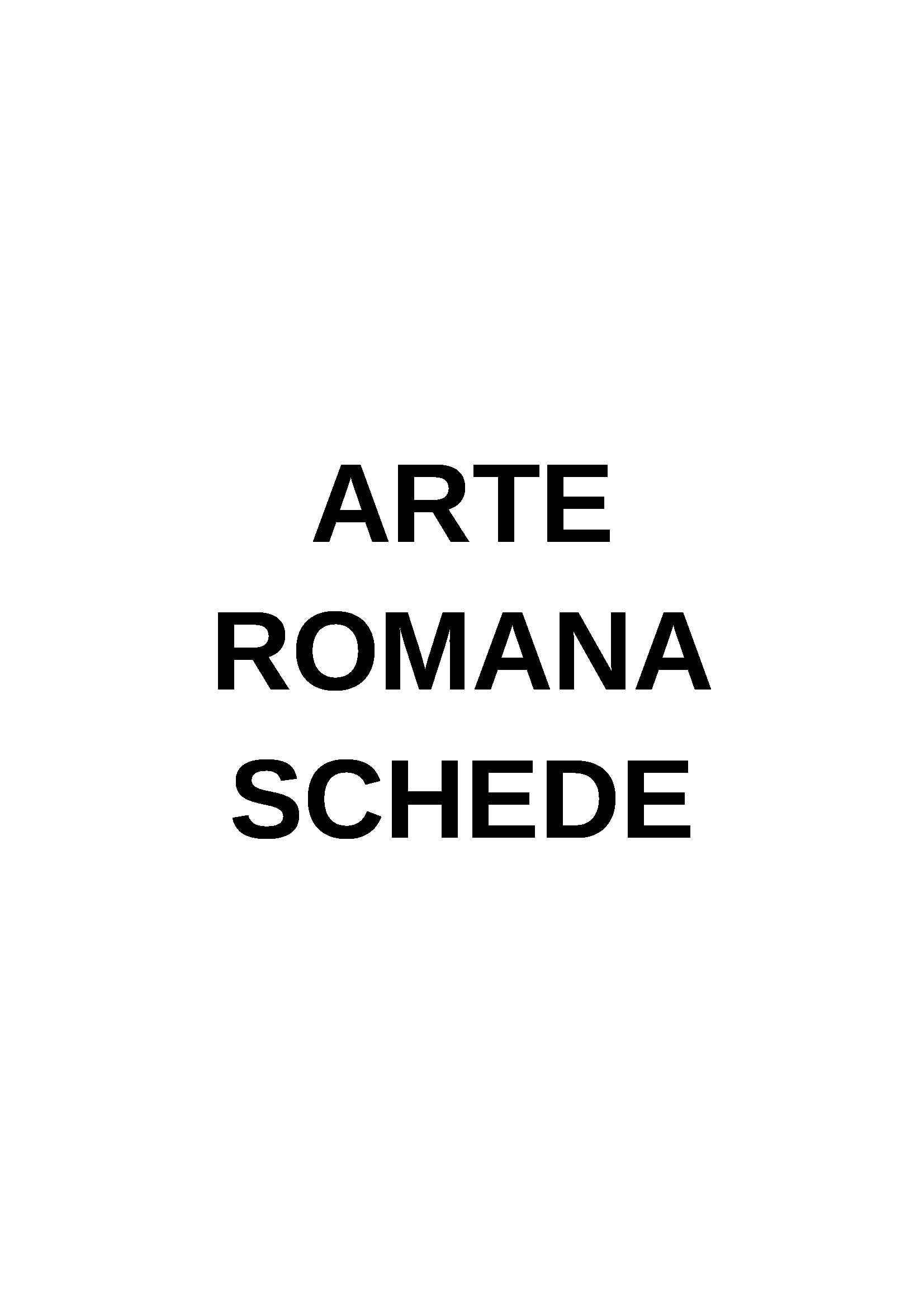 Archeologia e storia dell'arte romana - Appunti