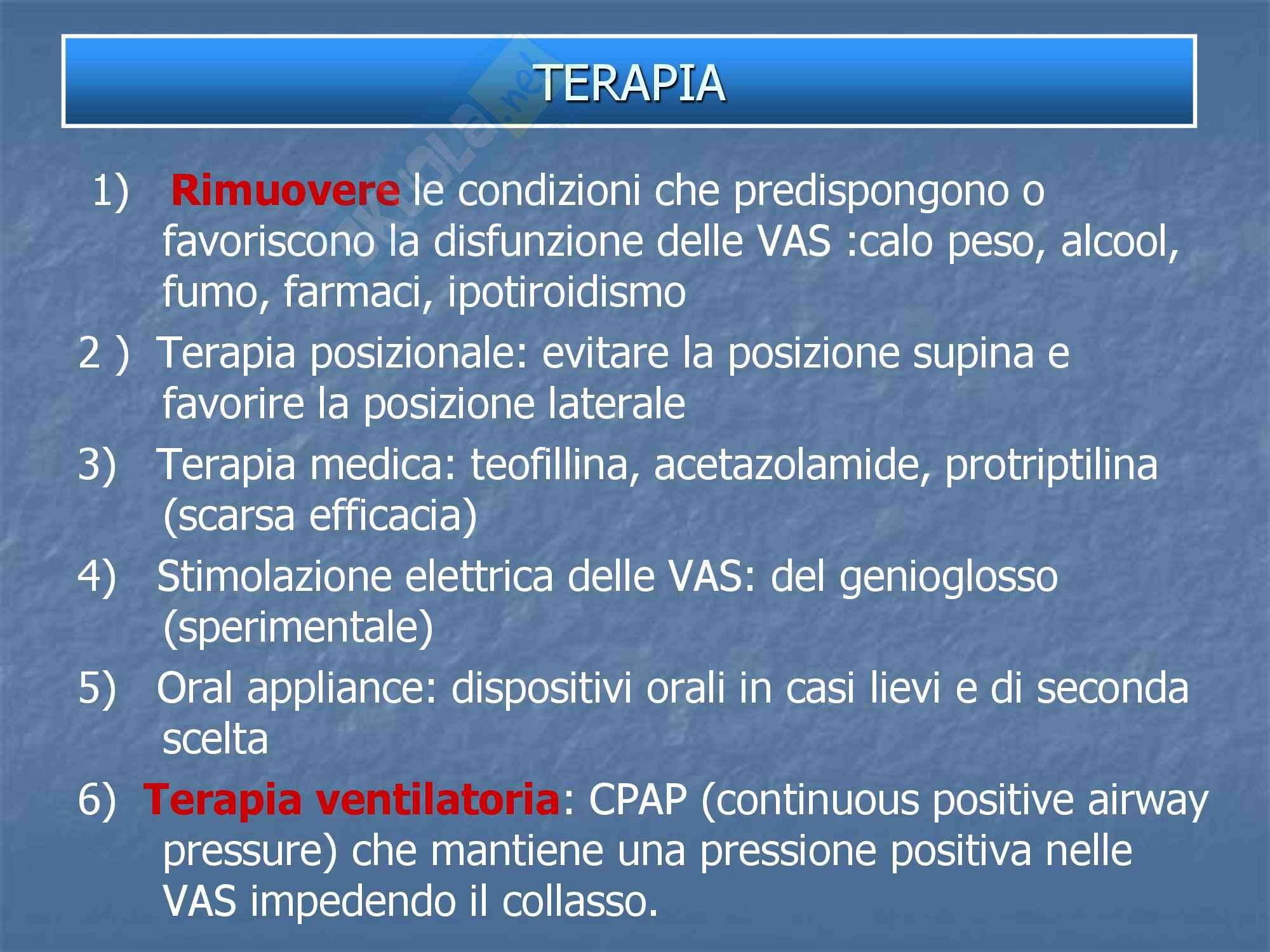 Malattie dell'apparato respiratorio - Disturbi Respiratori SRDB Pag. 16