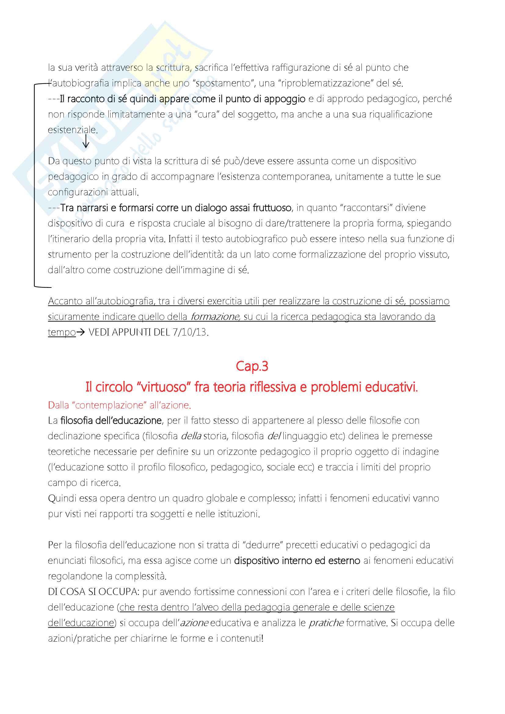 """Riassunto esame """"Filosofia dell'educazione"""", docente Alessandro Mariani, libro consigliato """"Elementi di filosofia dell'educazione"""", di Alessandro Mariani Pag. 11"""