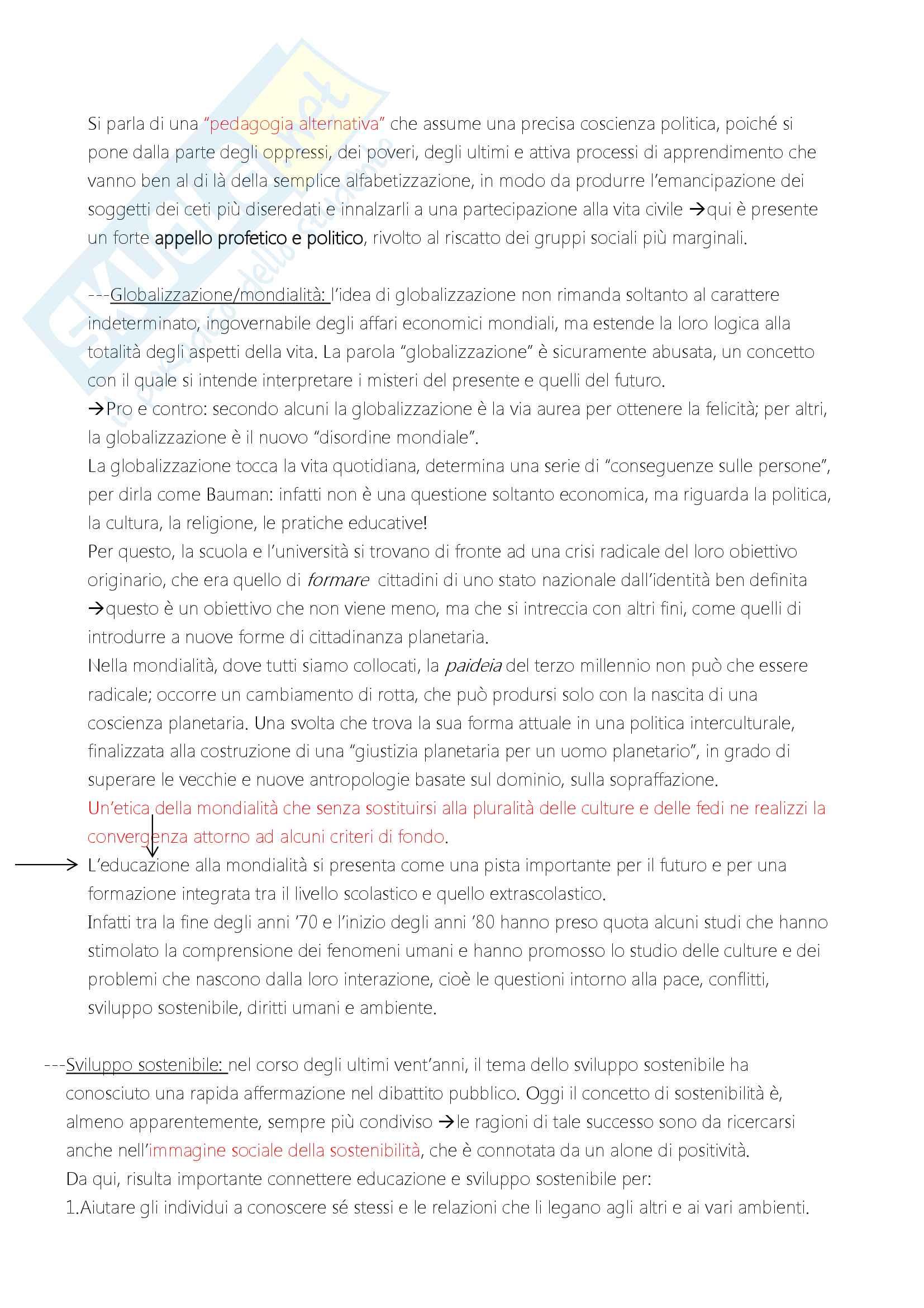 """Riassunto esame """"Filosofia dell'educazione"""", docente Alessandro Mariani, libro consigliato """"Elementi di filosofia dell'educazione"""", di Alessandro Mariani Pag. 16"""