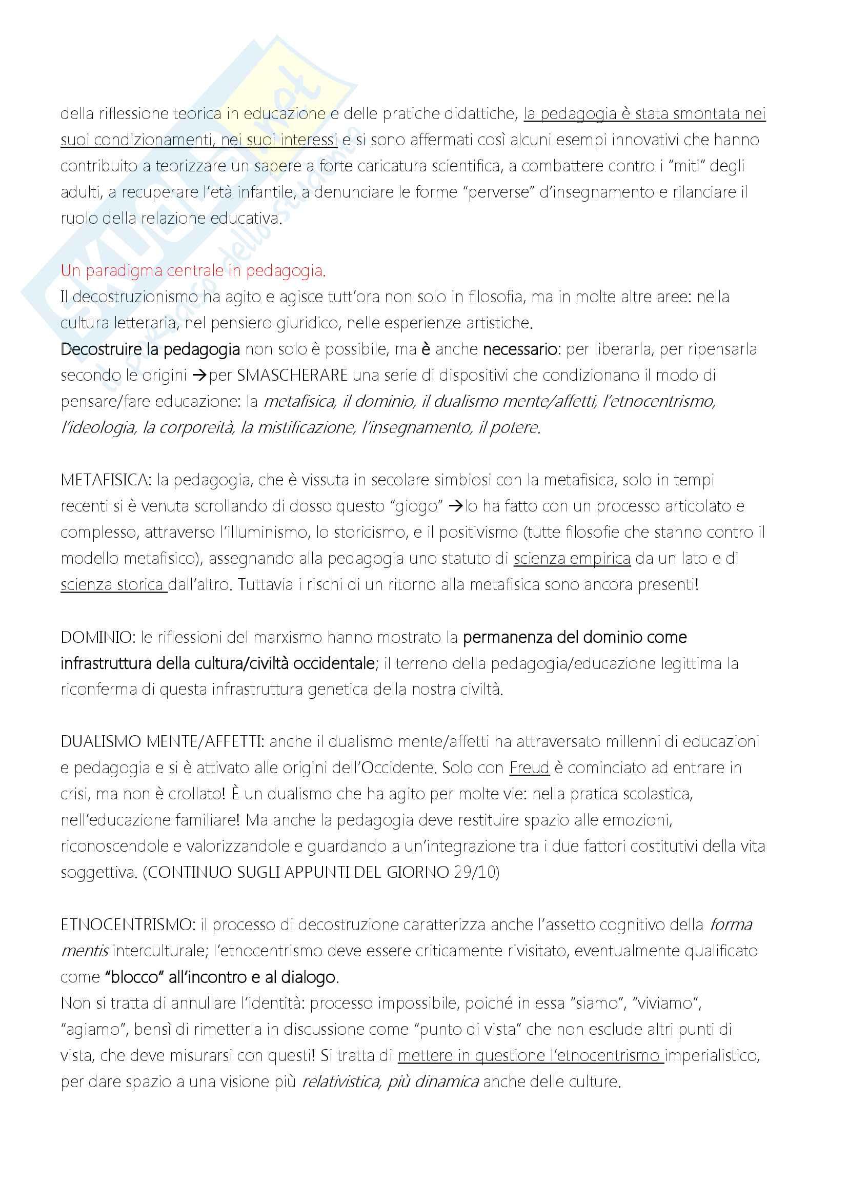 """Riassunto esame """"Filosofia dell'educazione"""", docente Alessandro Mariani, libro consigliato """"Elementi di filosofia dell'educazione"""", di Alessandro Mariani Pag. 26"""