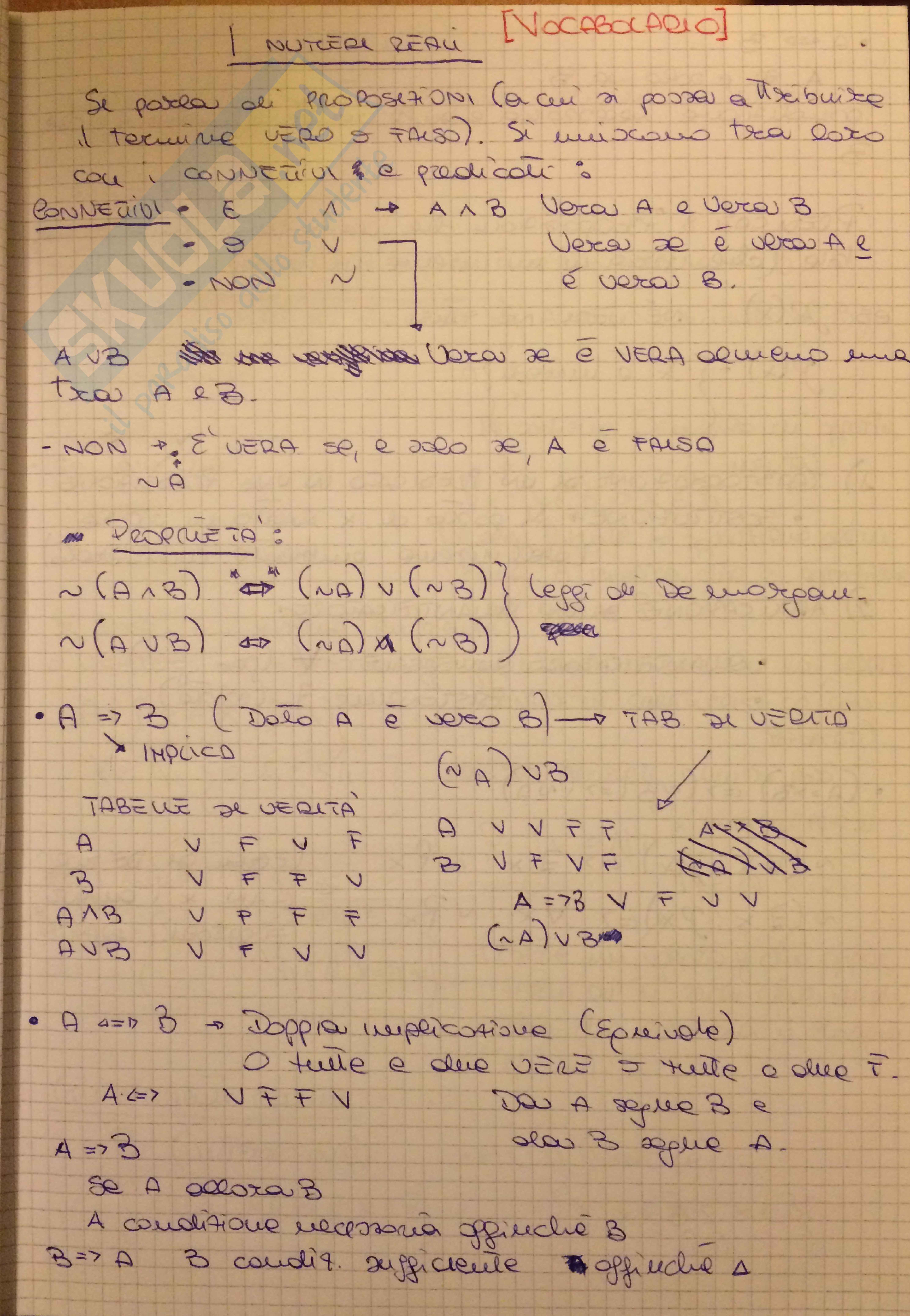 Lezioni, Analisi matematica 1