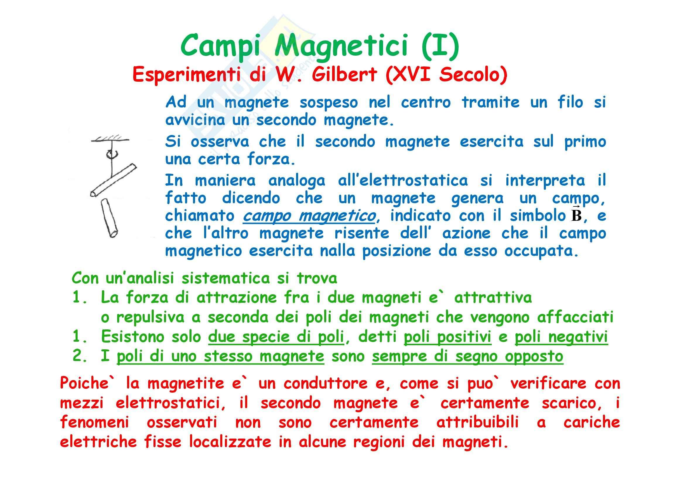 Fisica generale - il campo magnetico e il Teorema di Ampere Pag. 2