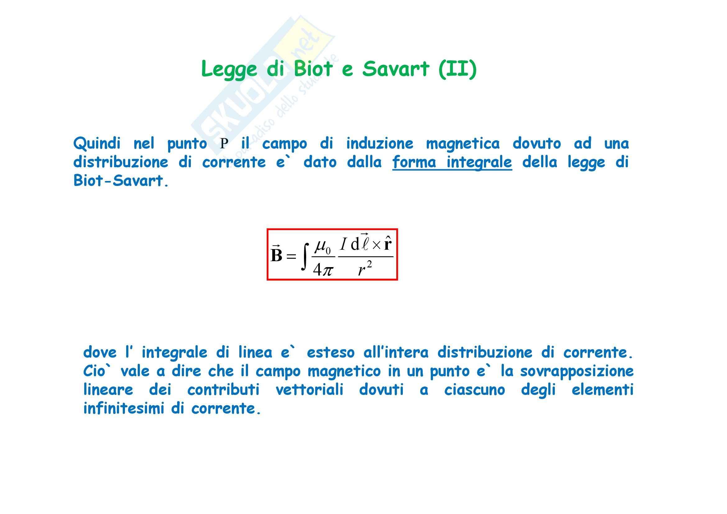 Fisica generale - il campo magnetico e il Teorema di Ampere Pag. 26