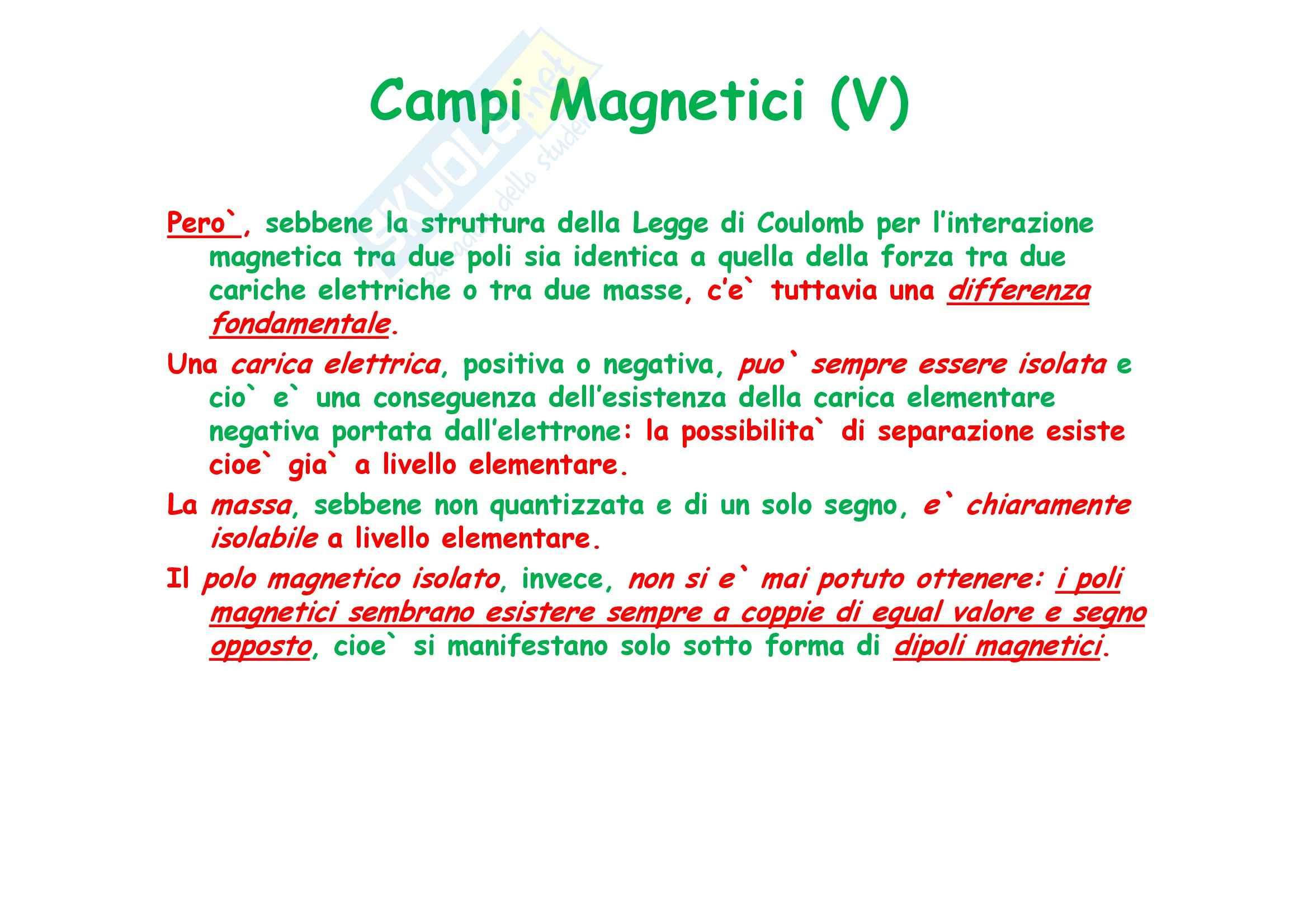 Fisica generale - il campo magnetico e il Teorema di Ampere Pag. 6