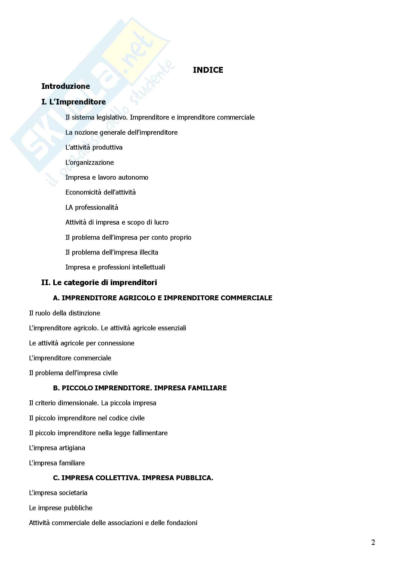Riassunto esame Diritto Commerciale, prof. Giannelli, libro consigliato Manuale di Diritto Commerciale, Campobasso