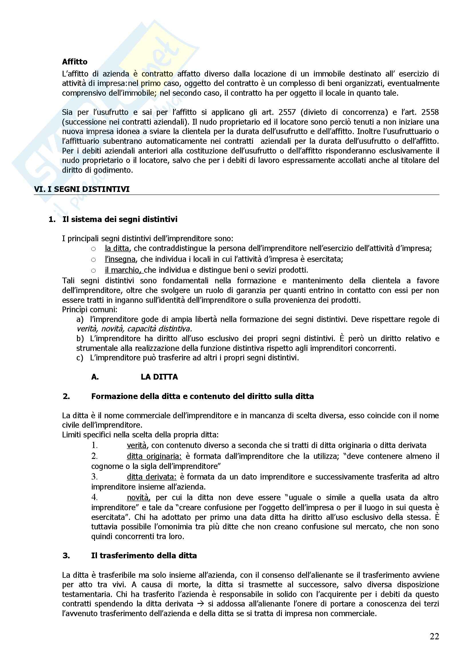 Riassunto esame Diritto Commerciale, prof. Giannelli, libro consigliato Manuale di Diritto Commerciale, Campobasso Pag. 21