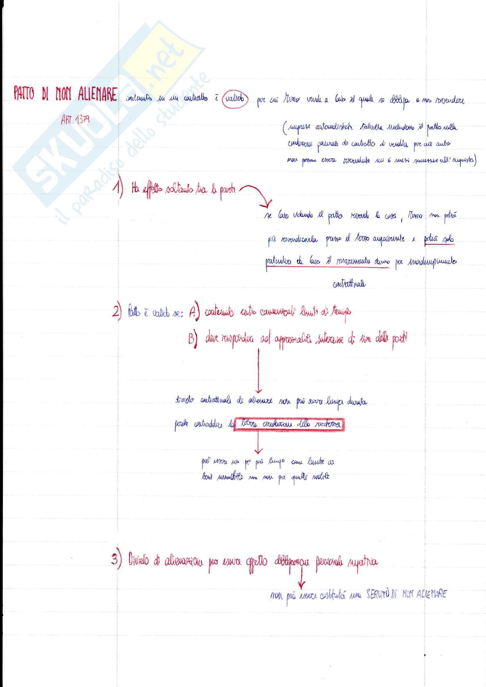 Riassunto esame Diritto Privato, prof. Ciatti, libro consigliato Diritto Privato - Effetti del contratto, Galgano Pag. 26