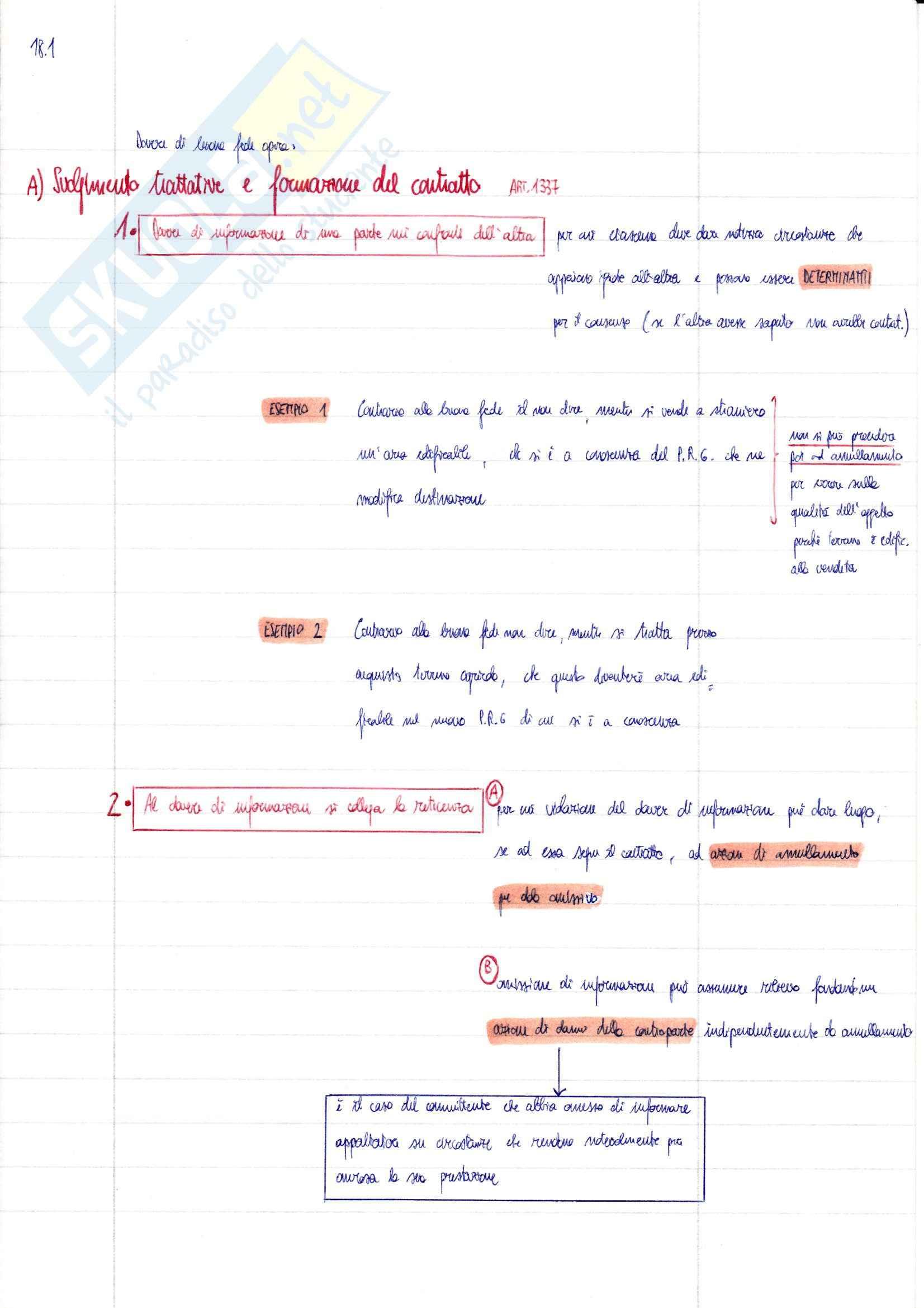 Riassunto esame Diritto Privato, prof. Ciatti, libro consigliato Diritto Privato - Effetti del contratto, Galgano Pag. 31