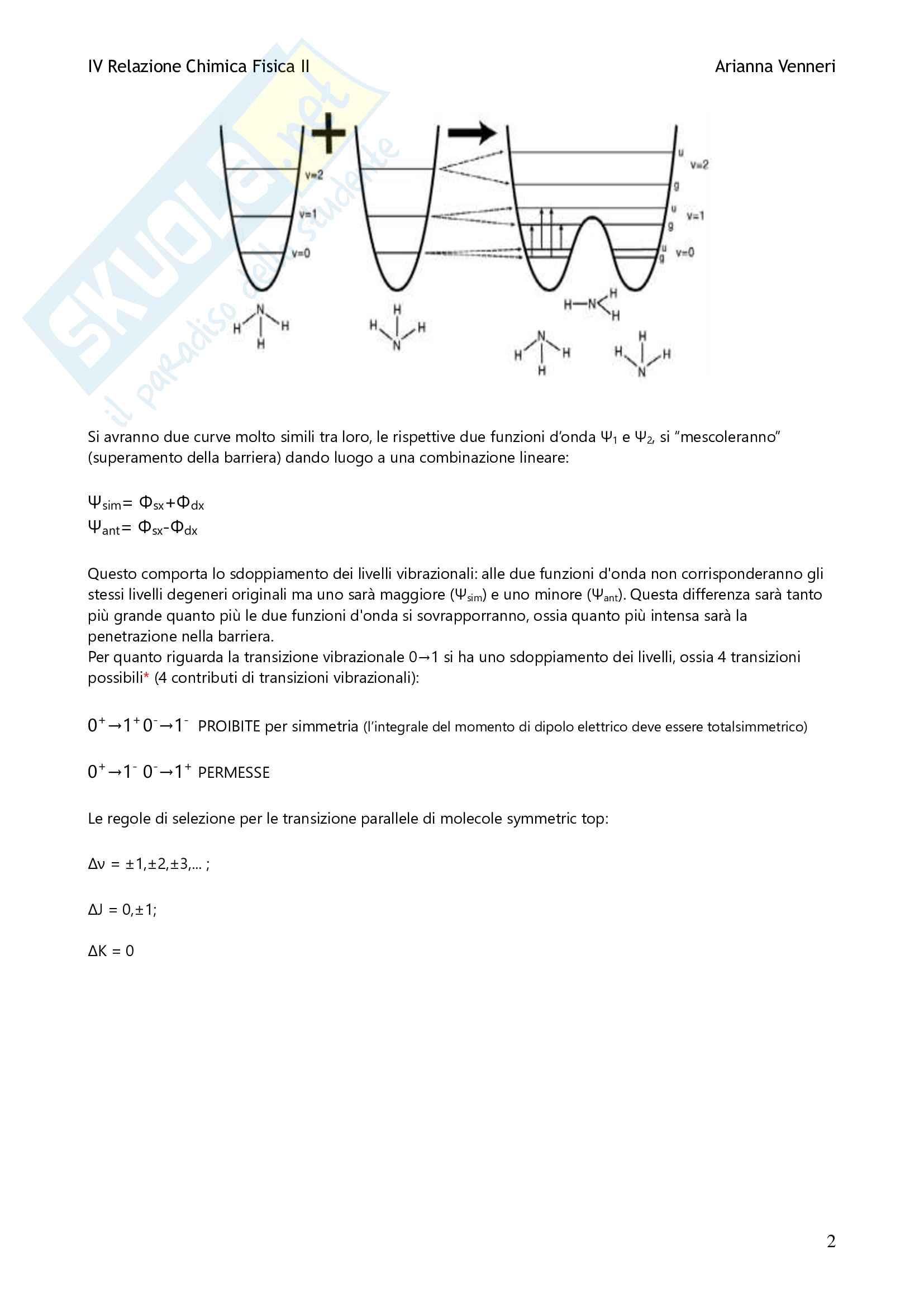 Relazione Esperienza NH3 Pag. 2