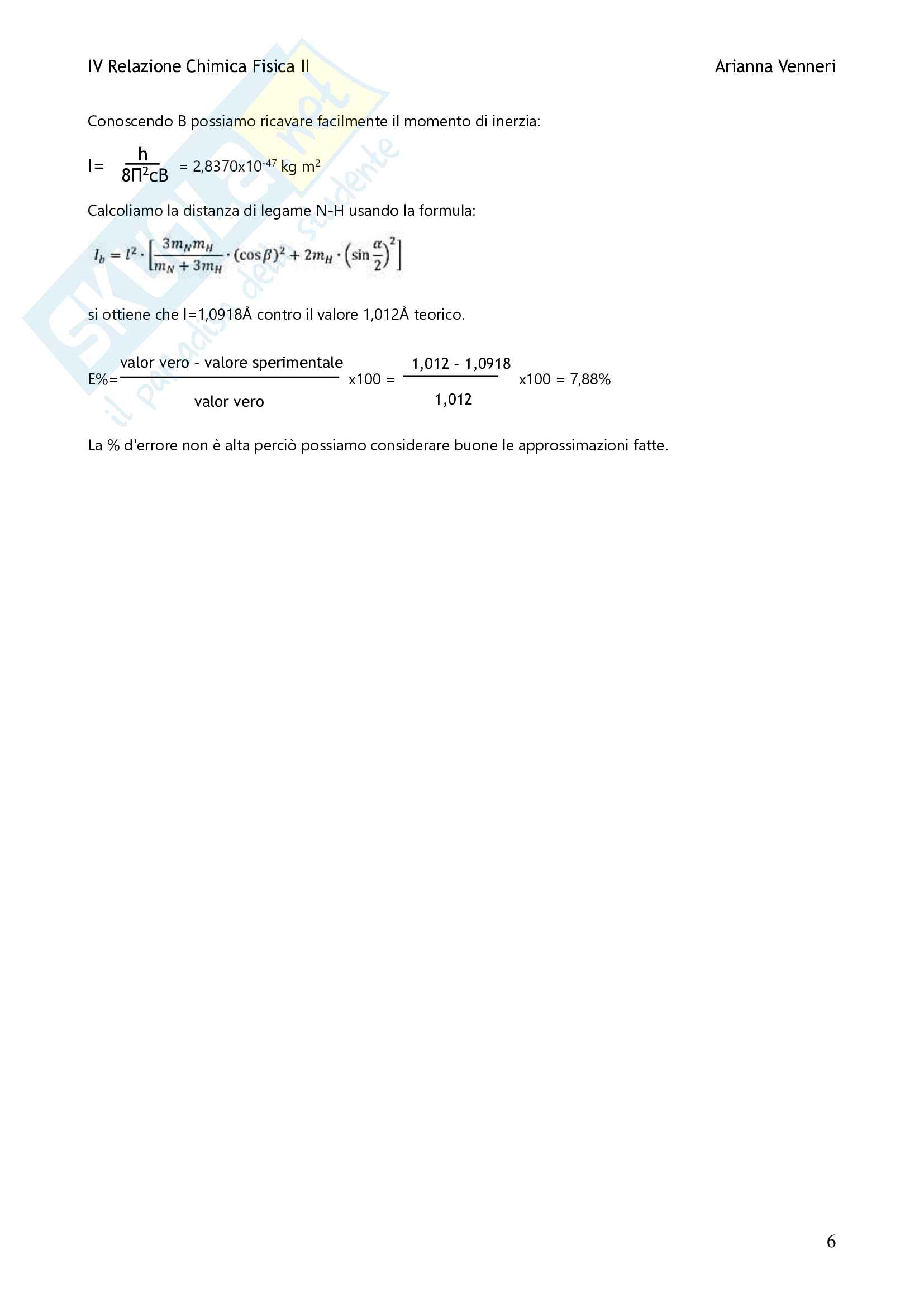 Relazione Esperienza NH3 Pag. 6