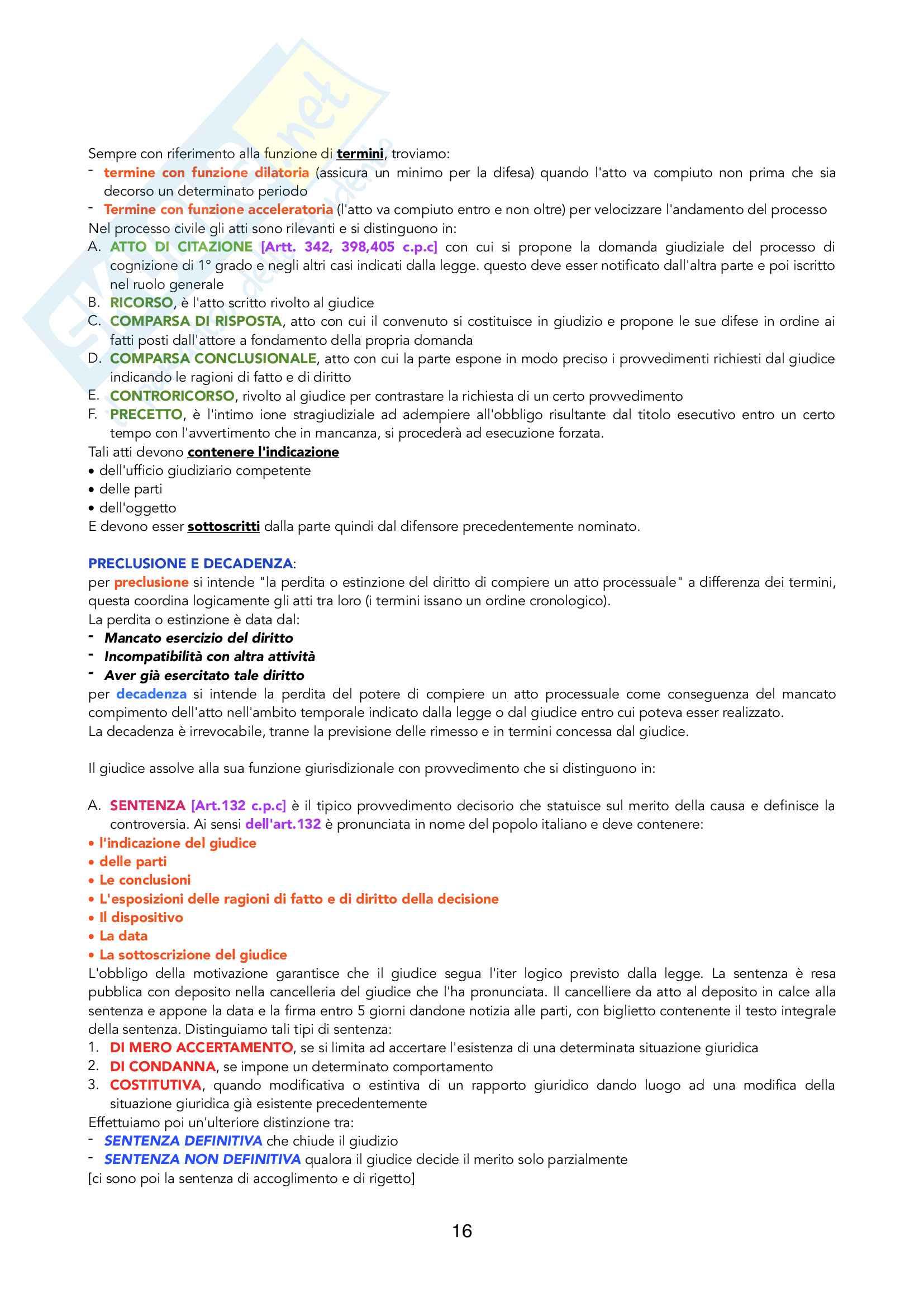 Riassunto di Processuale Civile, prof. Filippo Corsini, libri consigliati M.Bove + Compendio Simone (parte generale) e G.Verde (parte speciale) Pag. 16
