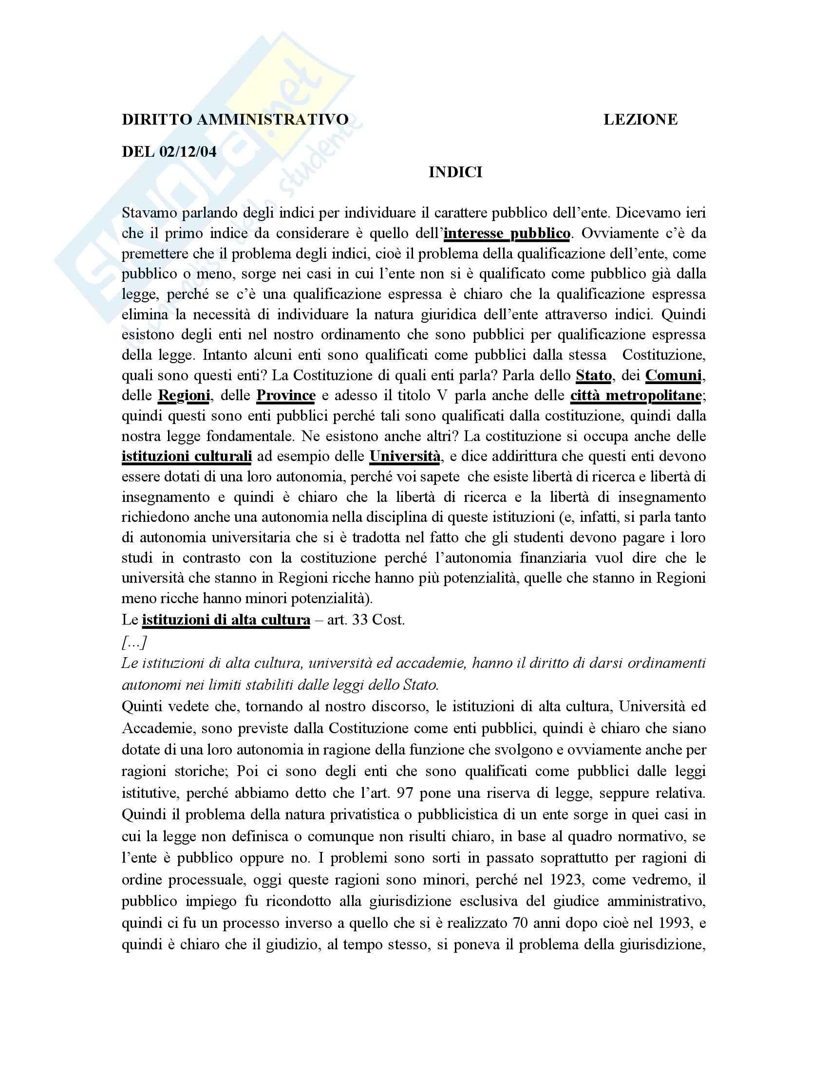 Diritto amministrativo - Lezioni