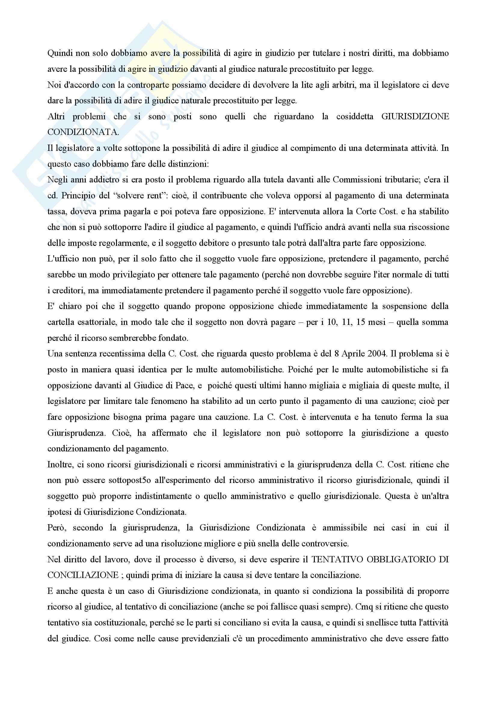 Diritto processuale civile - principi costituzionali nel processo civile Pag. 2