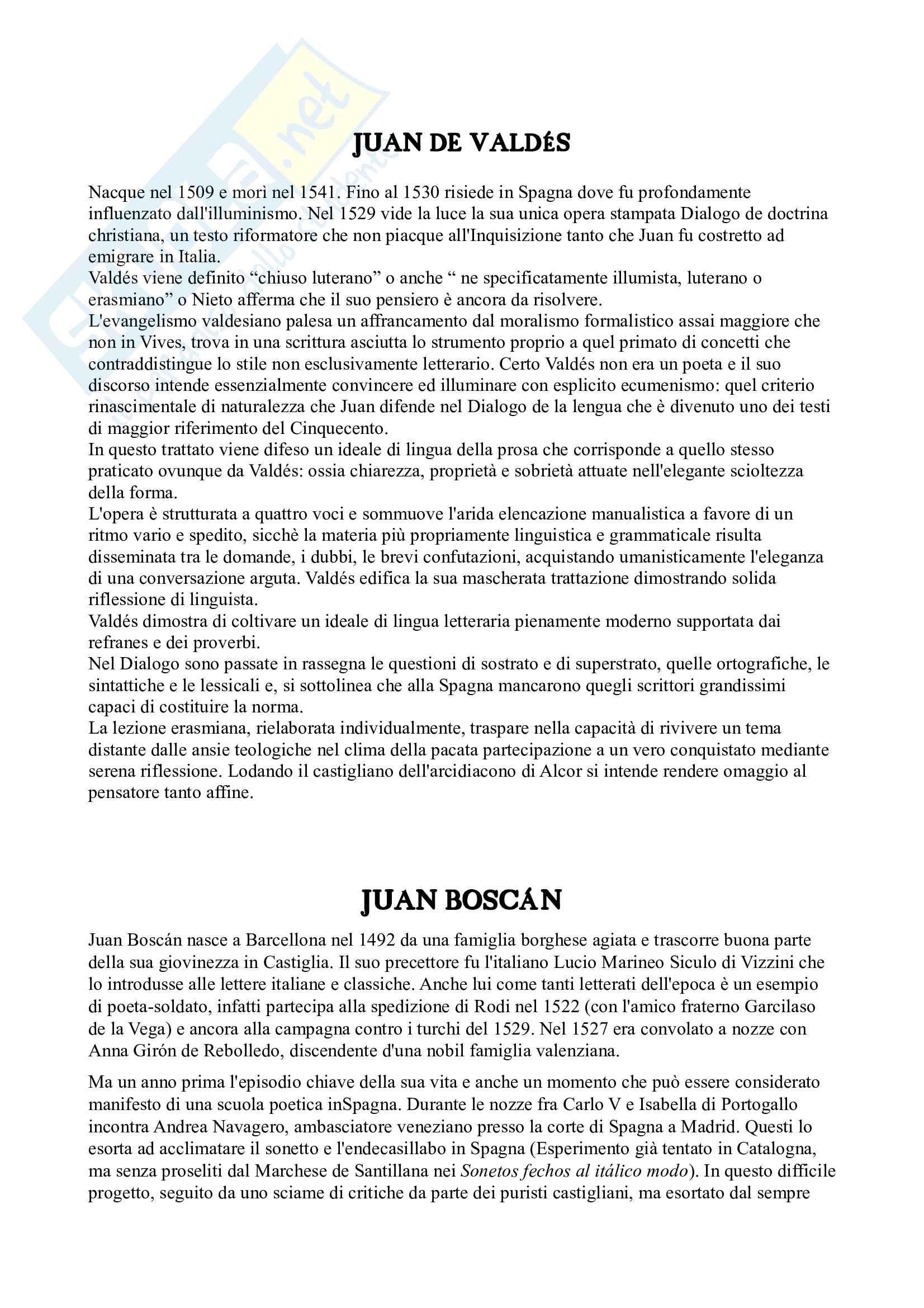 Riassunto esame Letteratura spagnola, prof. Arquez, libro consigliato L'età d'oro della letteratura spagnola 500 e 600 di Profeti Pag. 21