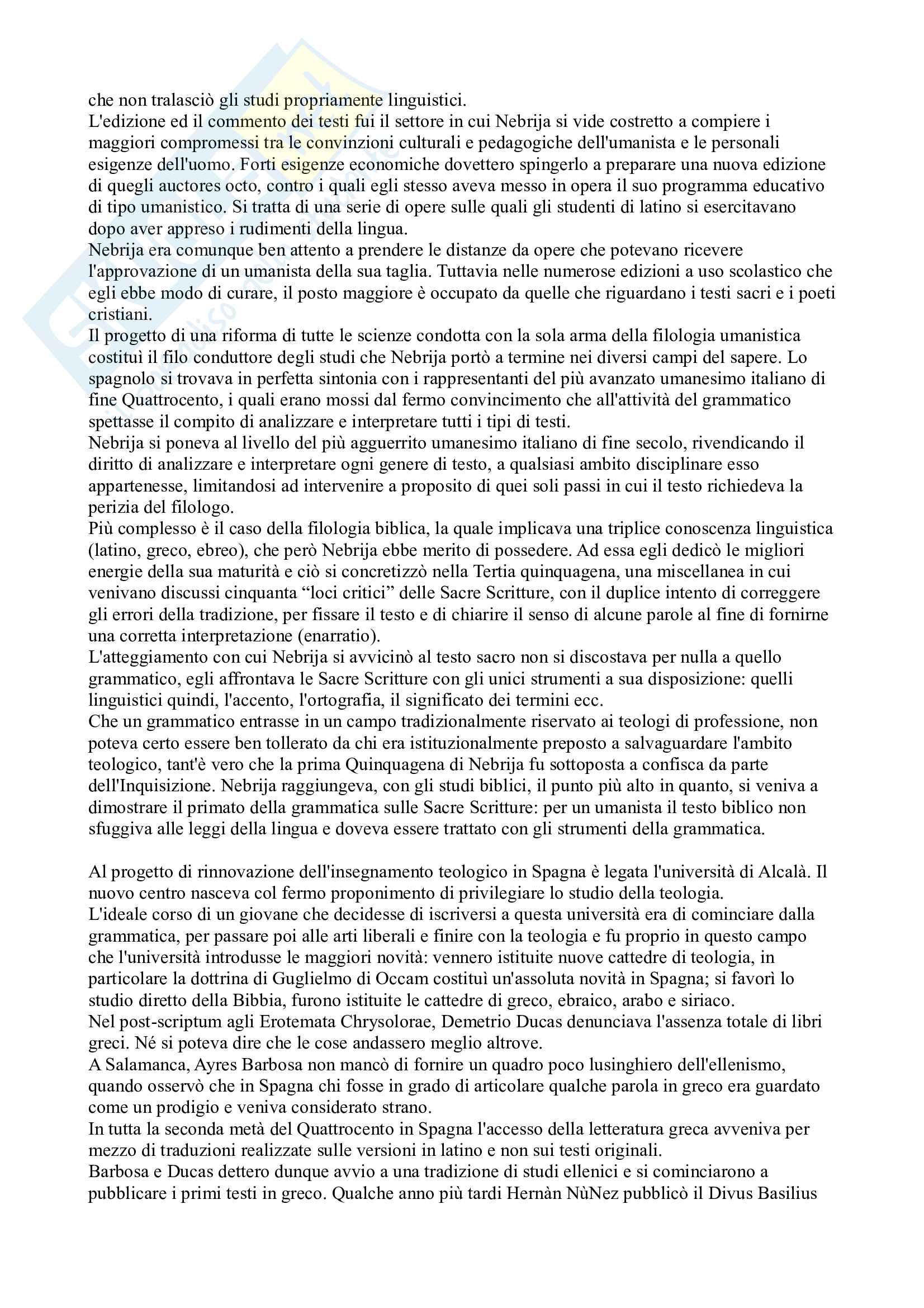 Riassunto esame Letteratura spagnola, prof. Arquez, libro consigliato L'età d'oro della letteratura spagnola 500 e 600 di Profeti Pag. 6