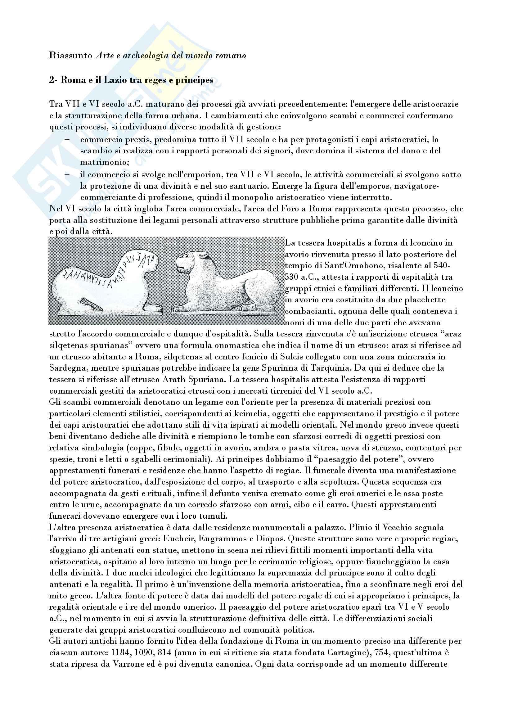 Riassunto esame archeologia e storia arte romana, prof. Romeo, libro consigliato Arte e archeologia del mondo romano, Torelli, Grassigli e Menichetti