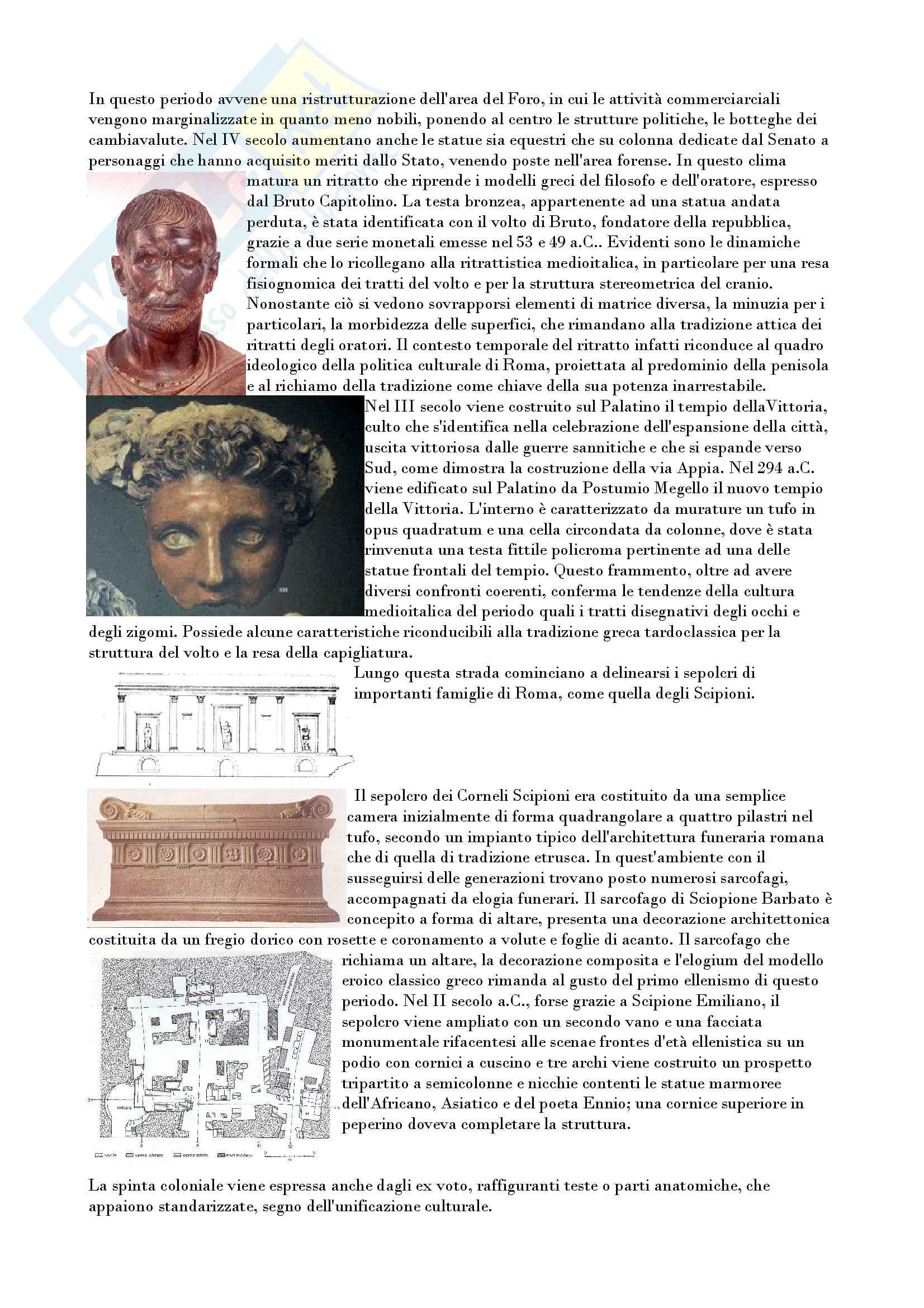 Riassunto esame archeologia e storia arte romana, prof. Romeo, libro consigliato Arte e archeologia del mondo romano, Torelli, Grassigli e Menichetti Pag. 6