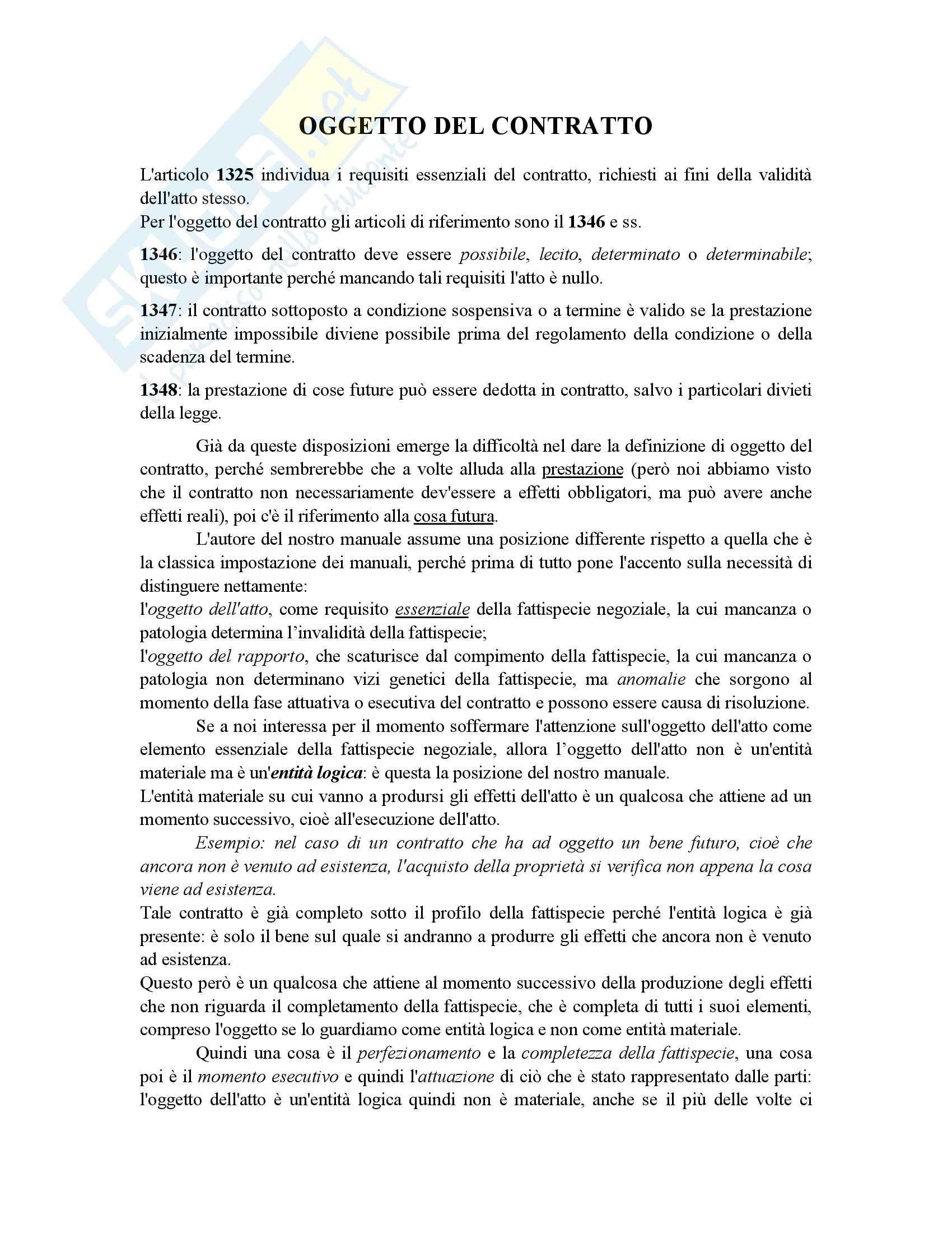 Manuale di diritto civile, Perlingieri - Il contratto