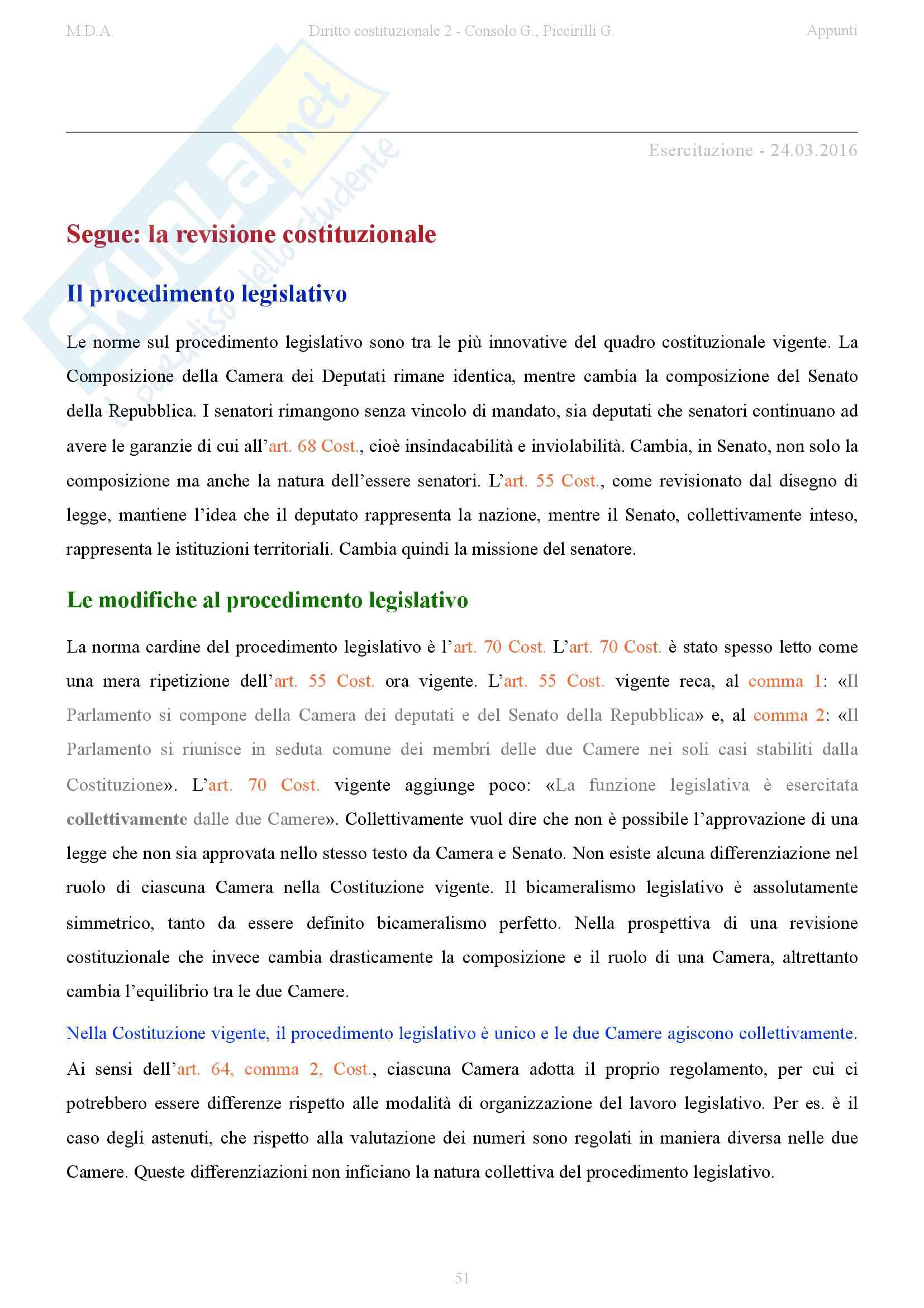 appunto G. Consolo Diritto costituzionale II