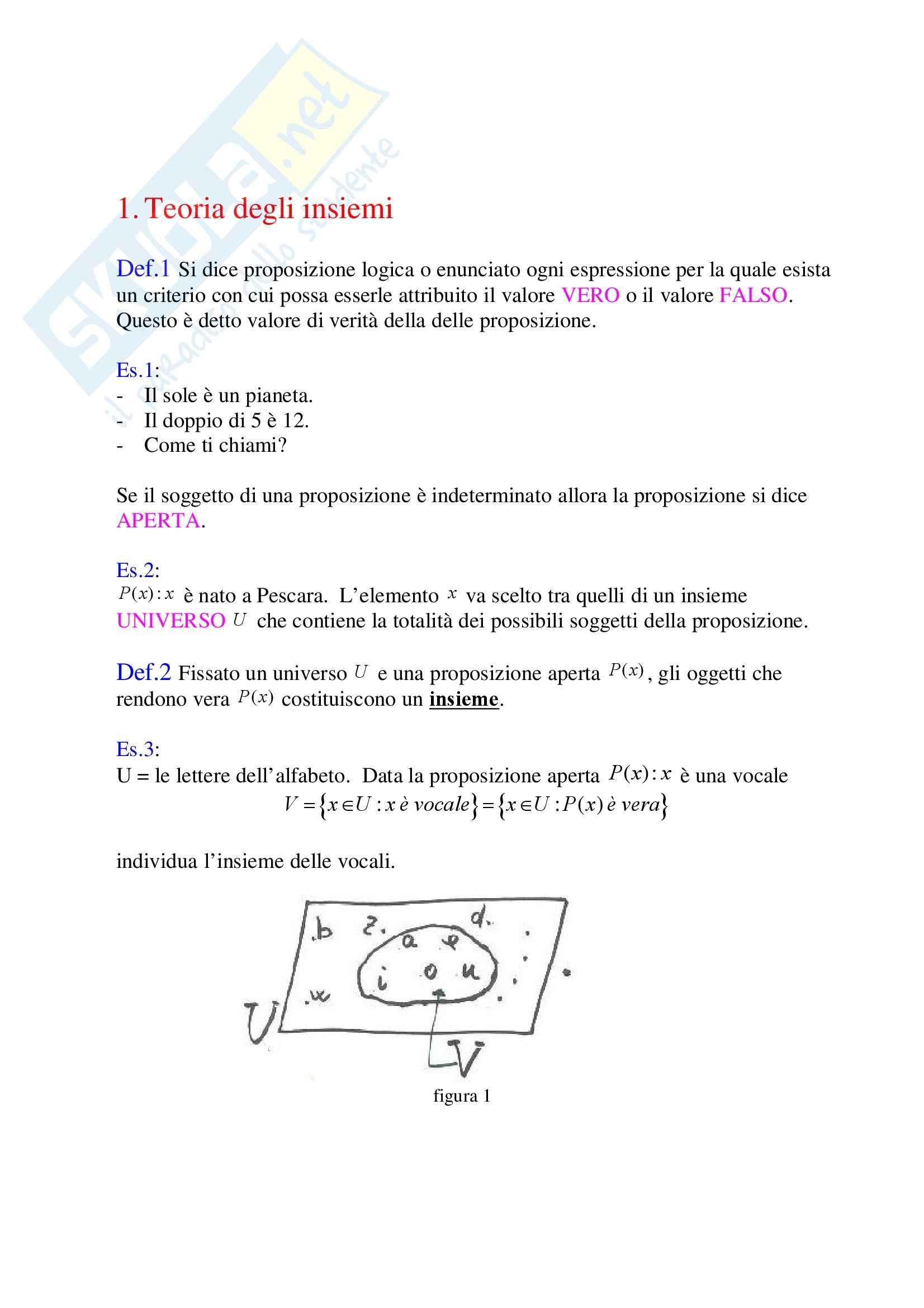 Statistica - Teoria Degli Insiemi