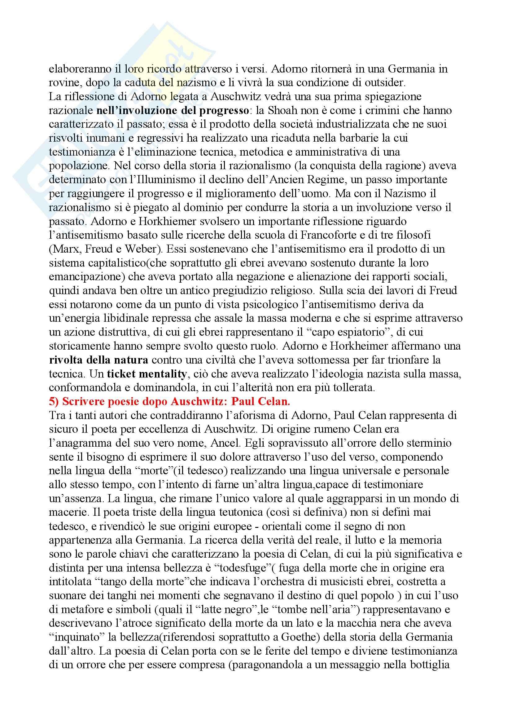 Storia delle religioni del mediterraneo – Auschwitz Pag. 6