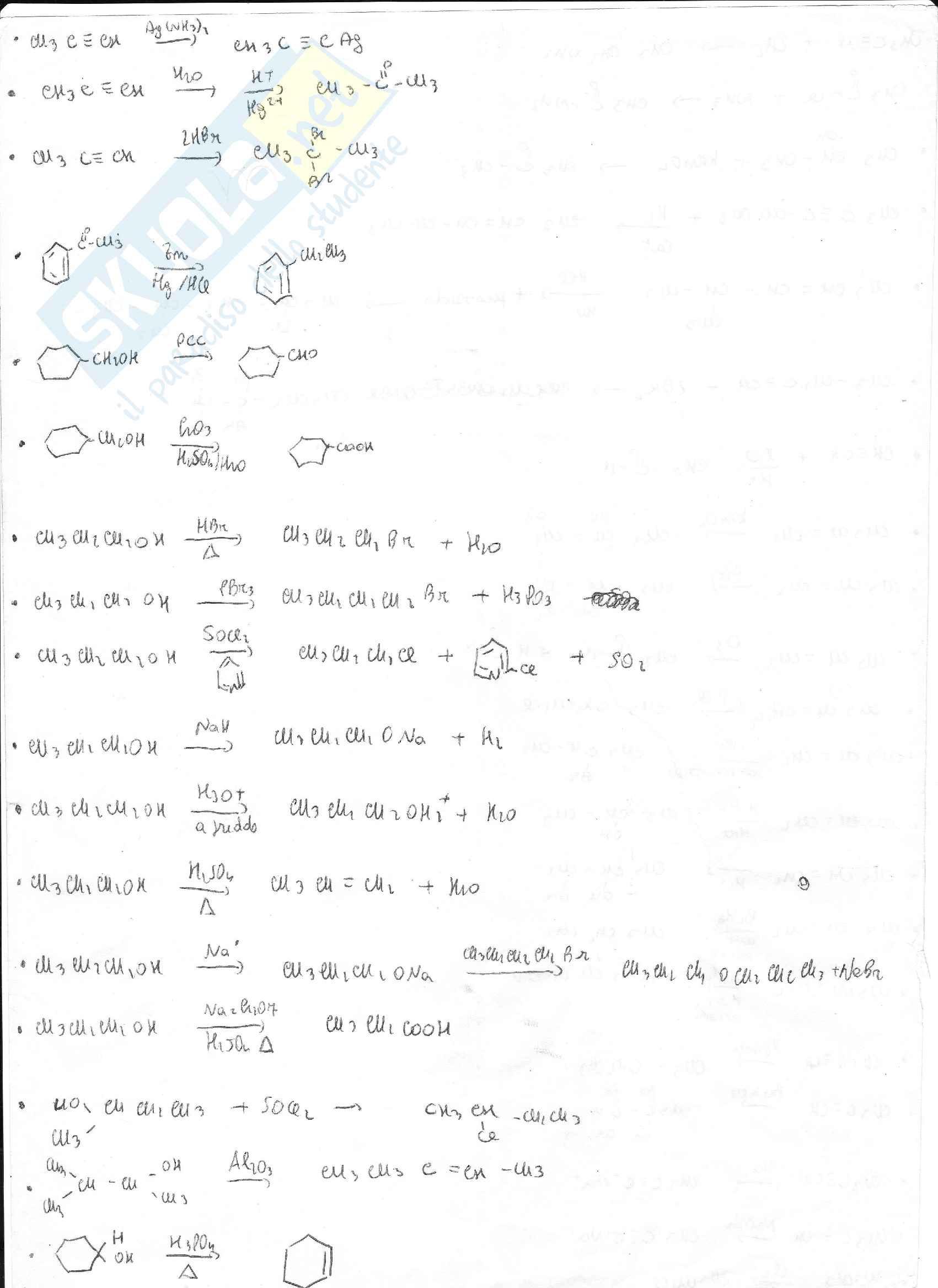 Esercizi svolti di chimica organica e nomenclatura
