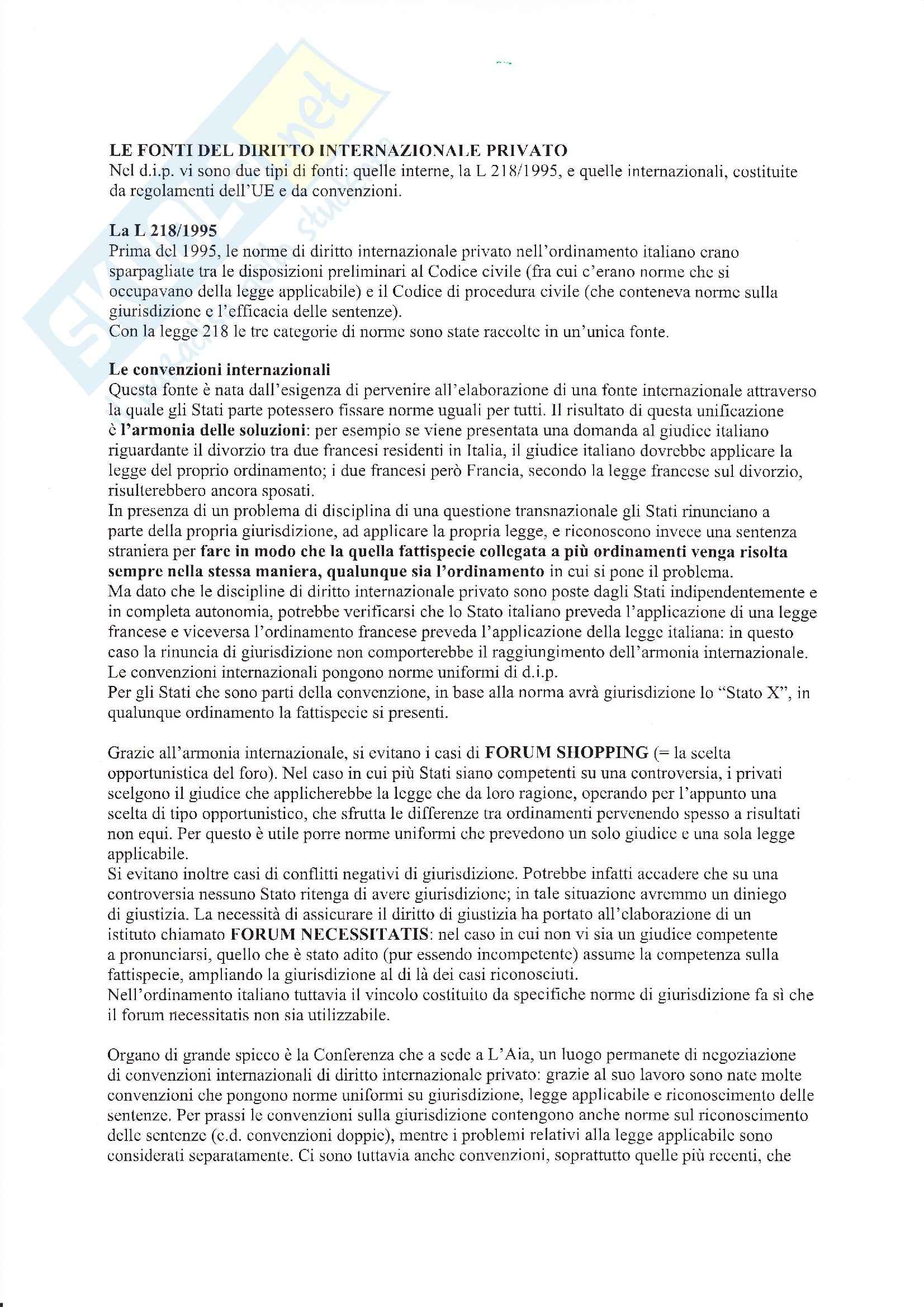 Diritto internazionale privato - Appunti Pag. 2