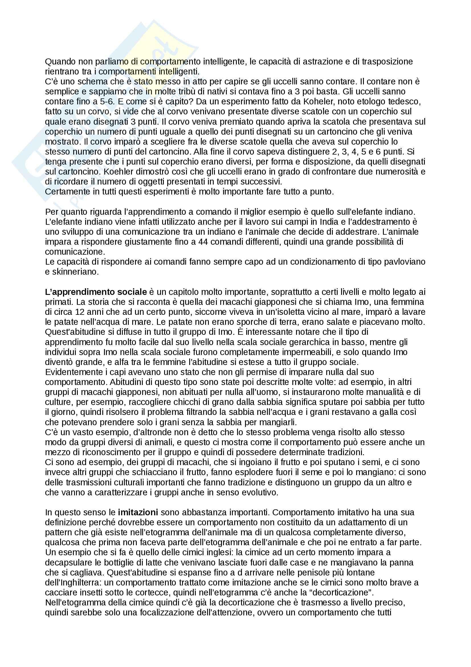 Apprendimento, Etologia Pag. 6