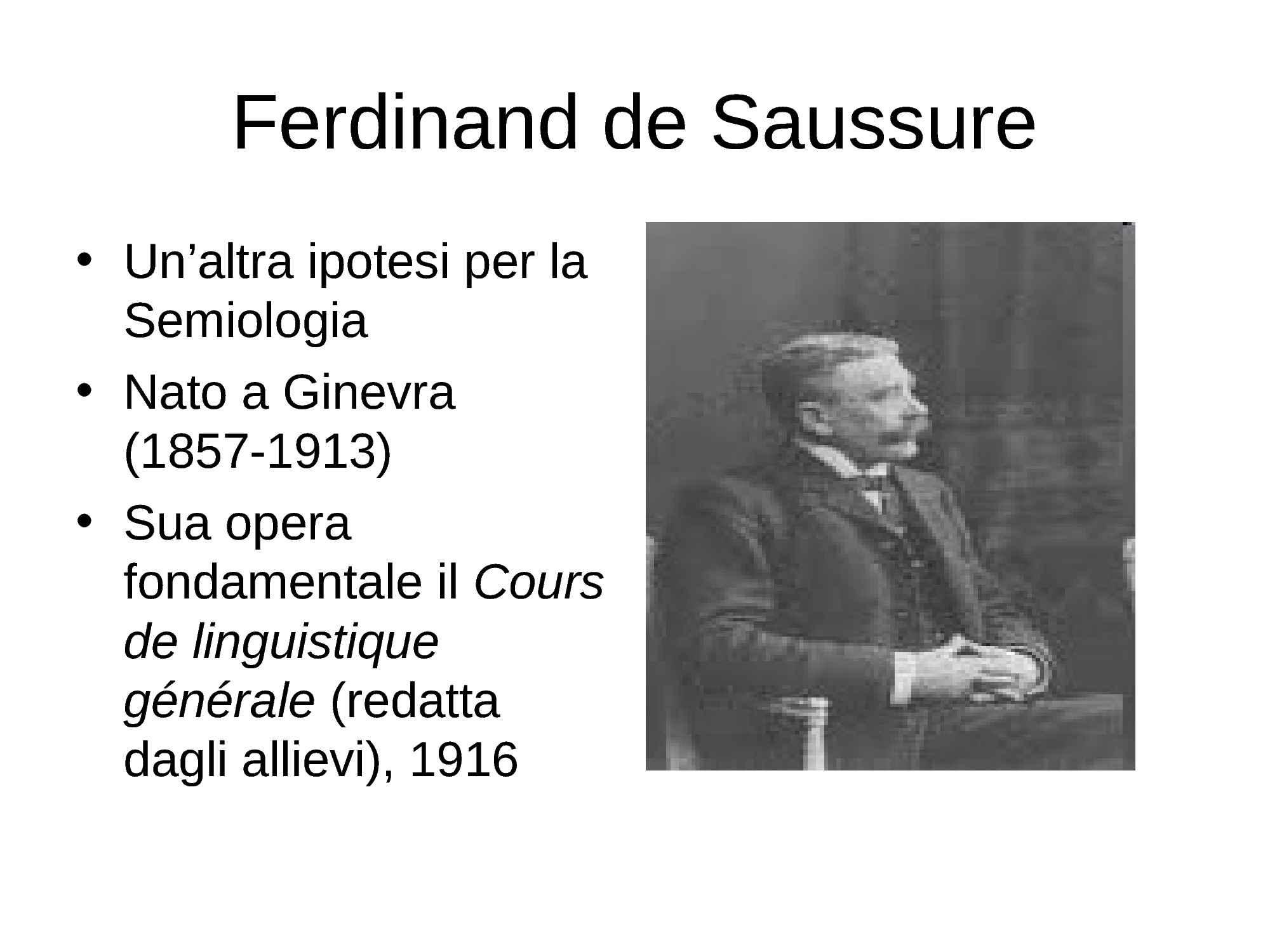 De Saussure, Ferdinand