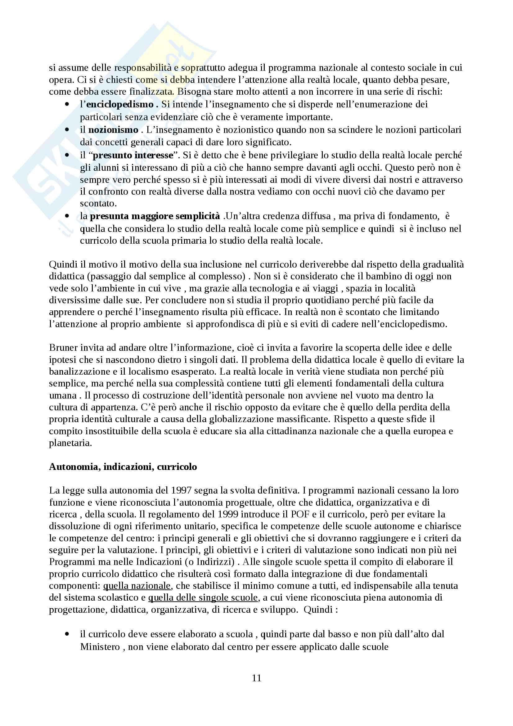 """Riassunto esame di didattica della lingua italiana, prof. Di Matteo, libro consigliato """"La buona scuola, I.Fiorin"""" Pag. 11"""