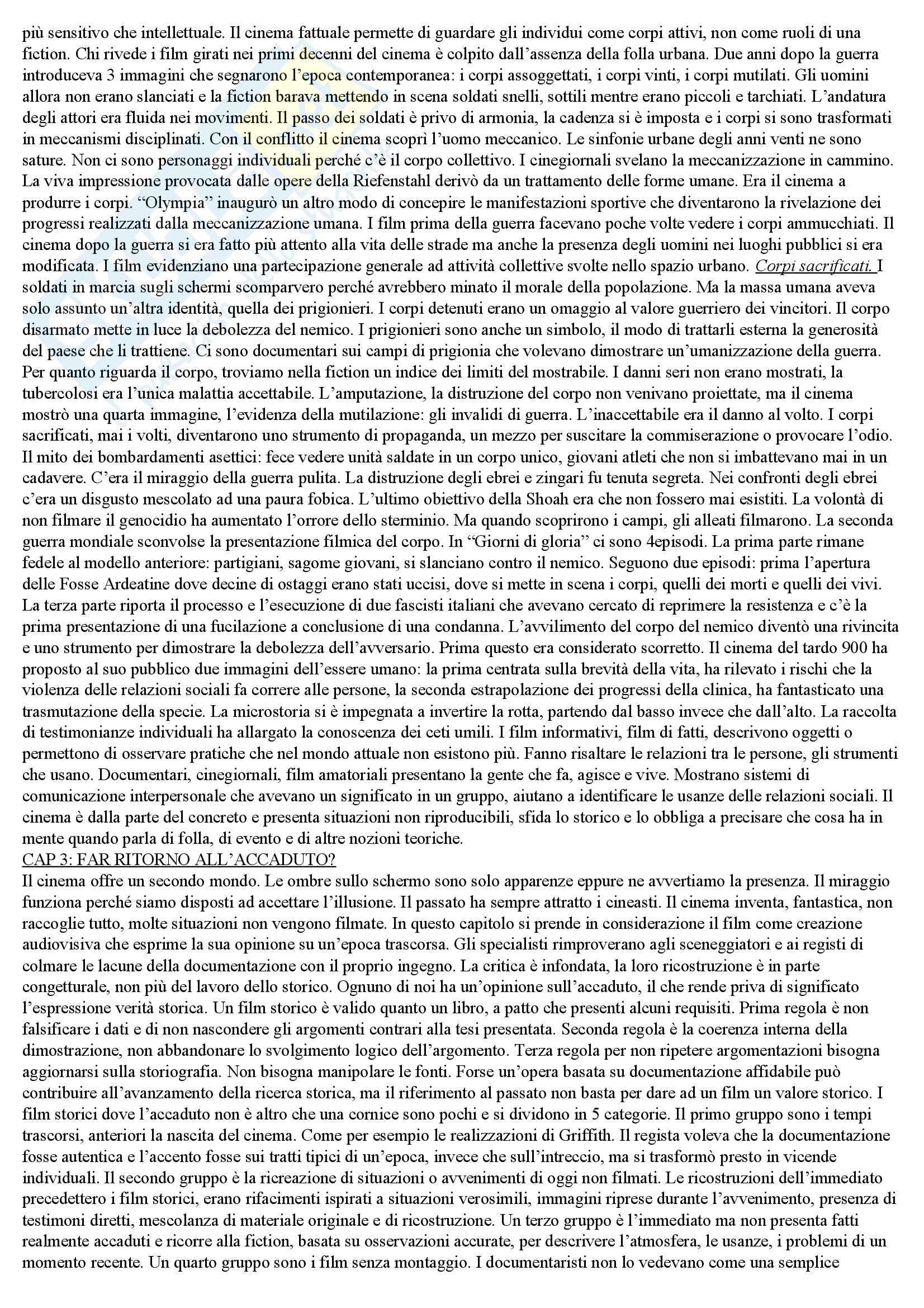 Riassunto esame Teoria e metodi di analisi del film, prof. Carluccio, libro consigliato Ombre passeggere, Sorlin Pag. 6