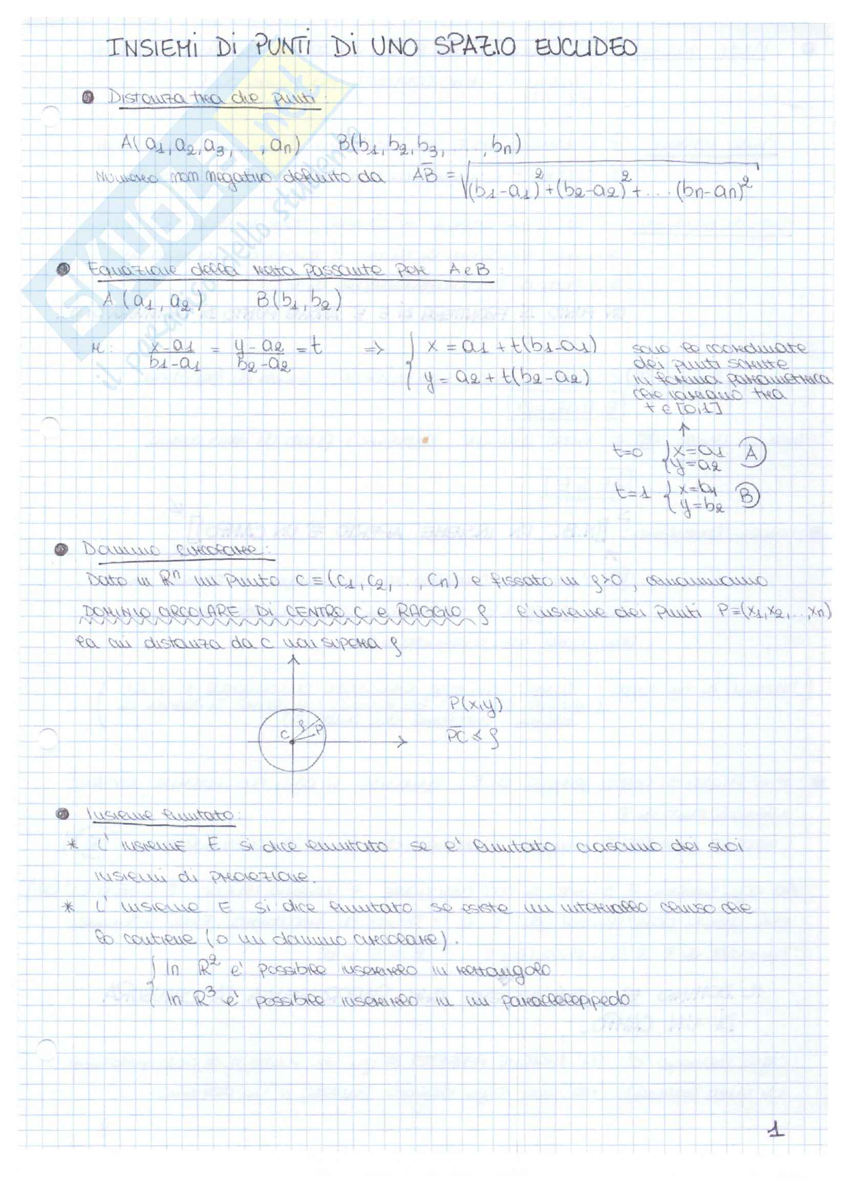 Appunti delle lezioni di Analisi II - Bruna Germano