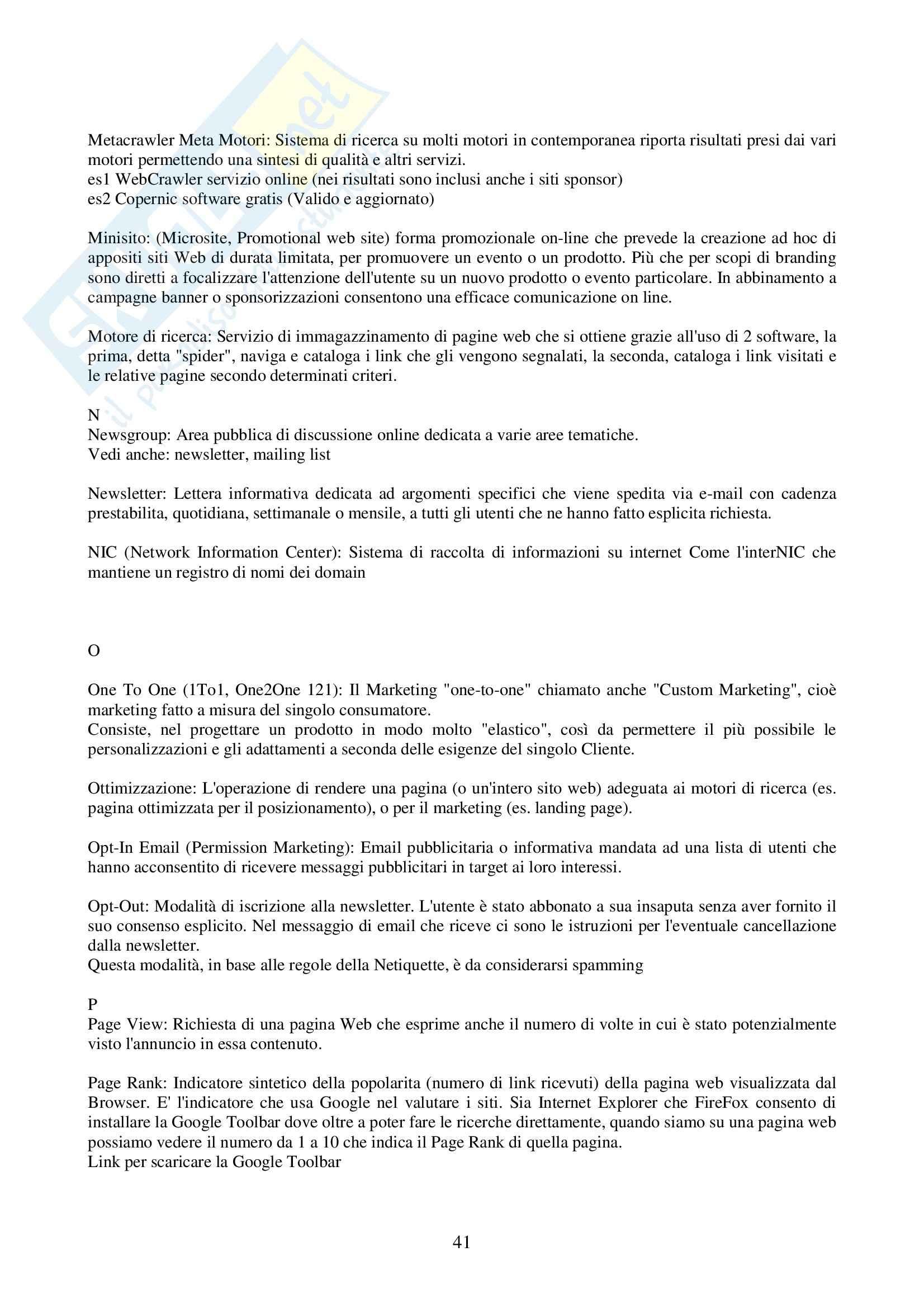 Informatica giuridica - informatica e tutela giuridica Pag. 41