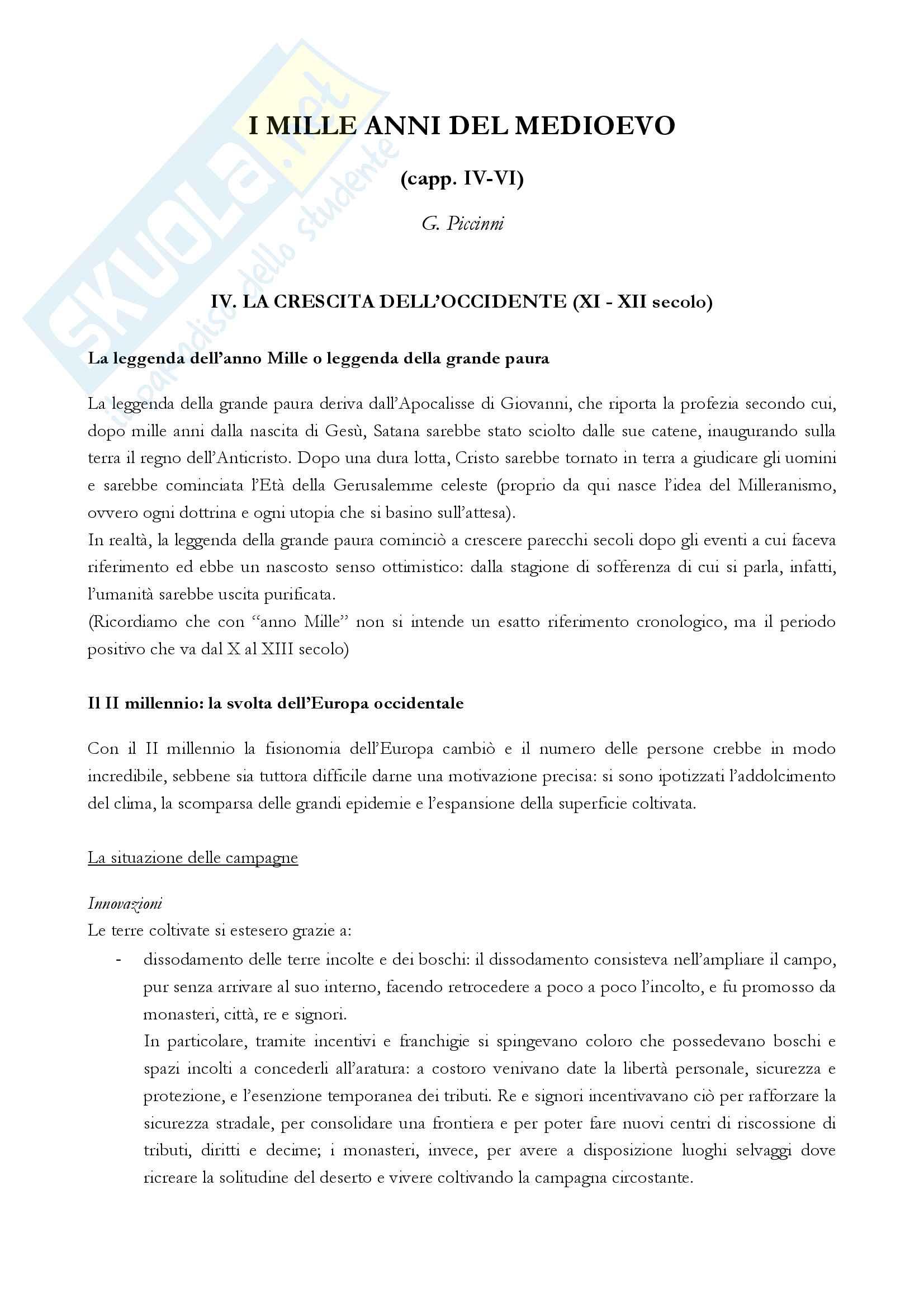 appunto G. Varanini Storia medievale
