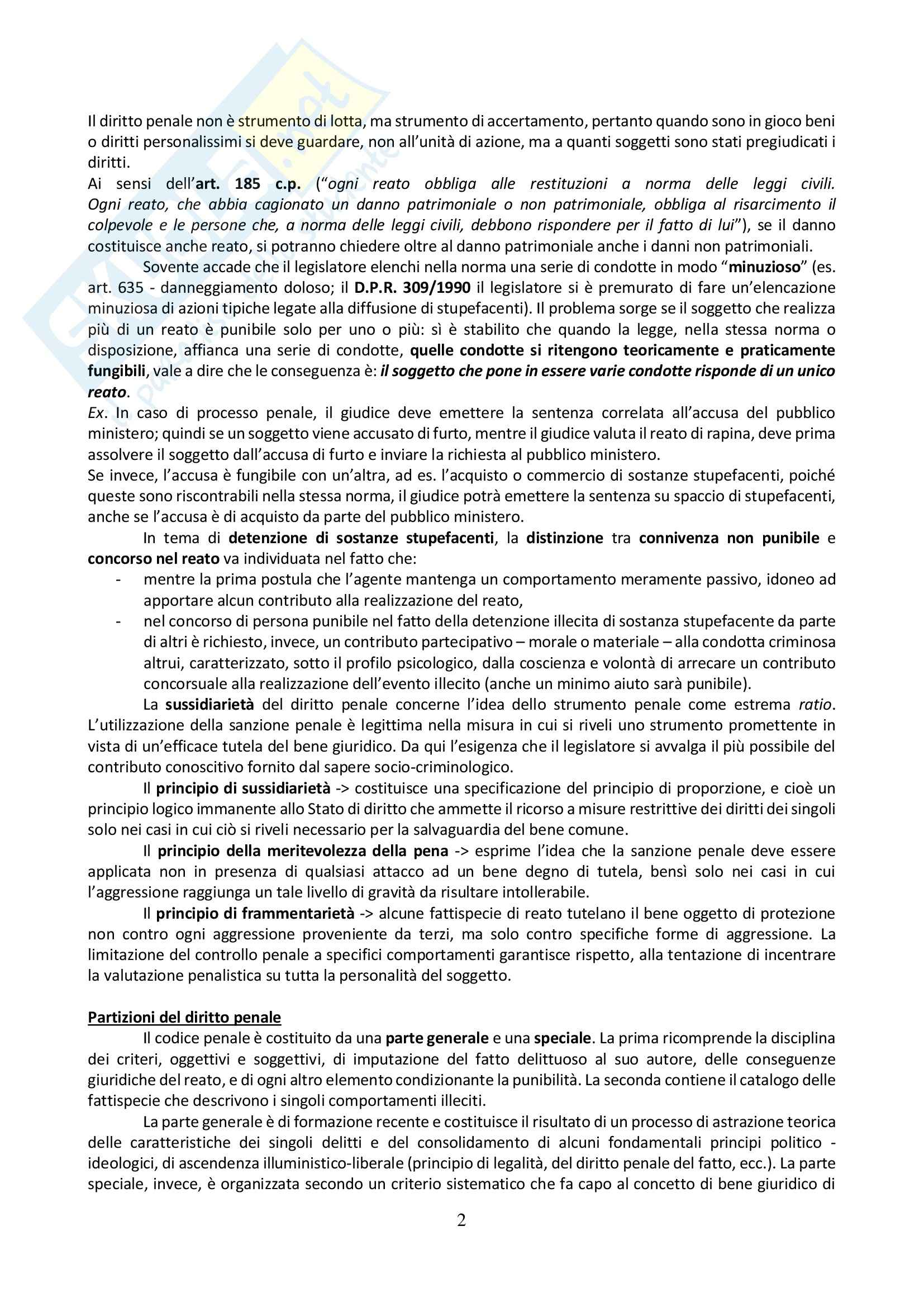 Riassunto esame Diritto Penale, prof. Sgubbi, libro consigliato Diritto Penale: Parte Generale di Fiandaca e Musco Pag. 2