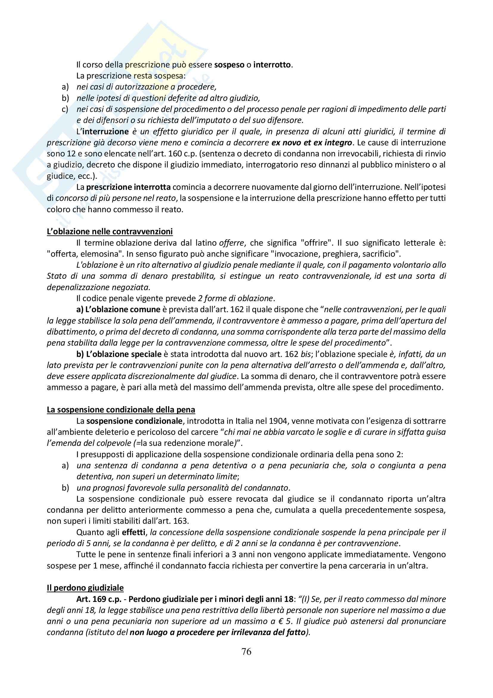 Riassunto esame Diritto Penale, prof. Sgubbi, libro consigliato Diritto Penale: Parte Generale di Fiandaca e Musco Pag. 76