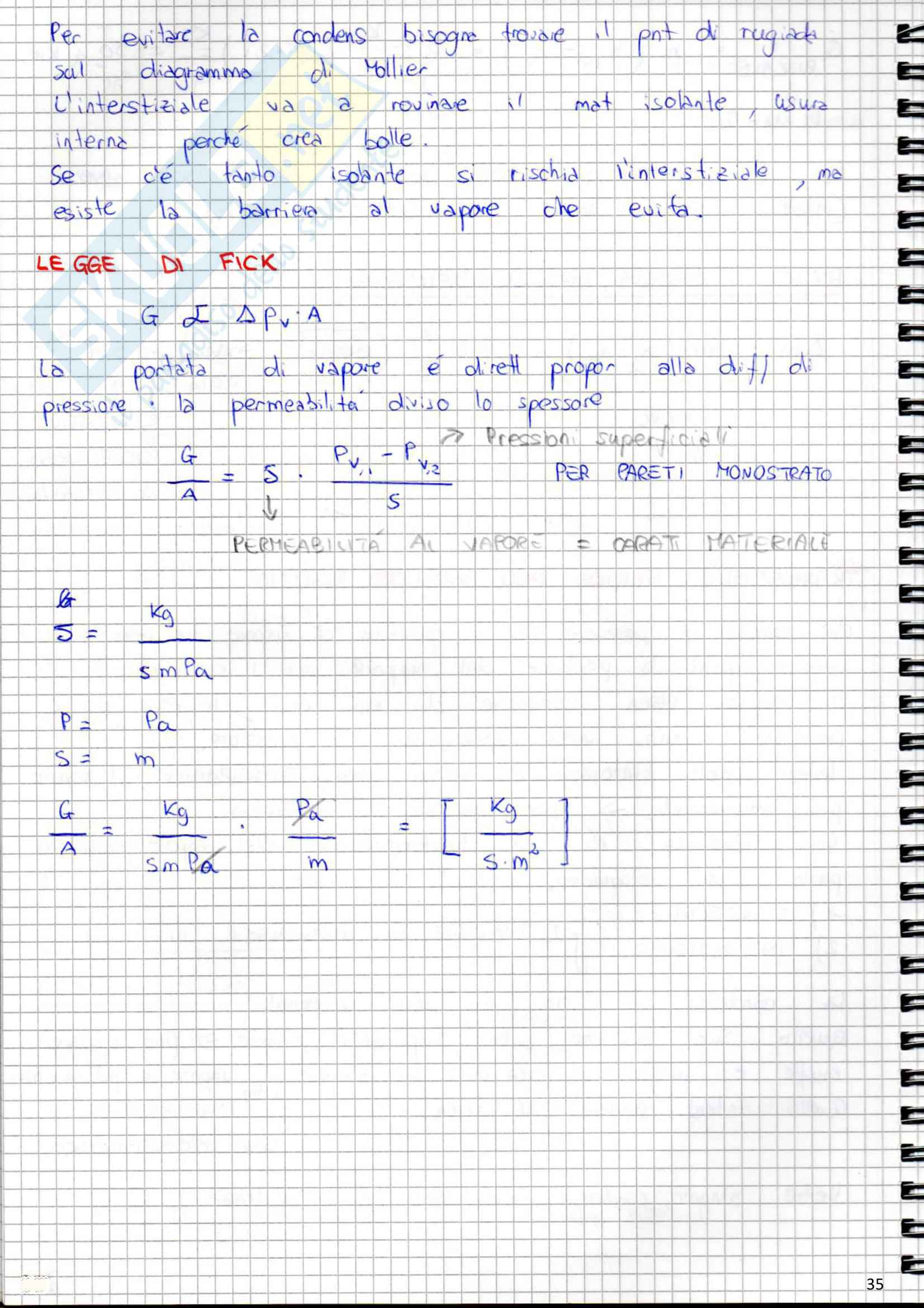 Lezioni, Fisica Tecnica ambientale Pag. 36