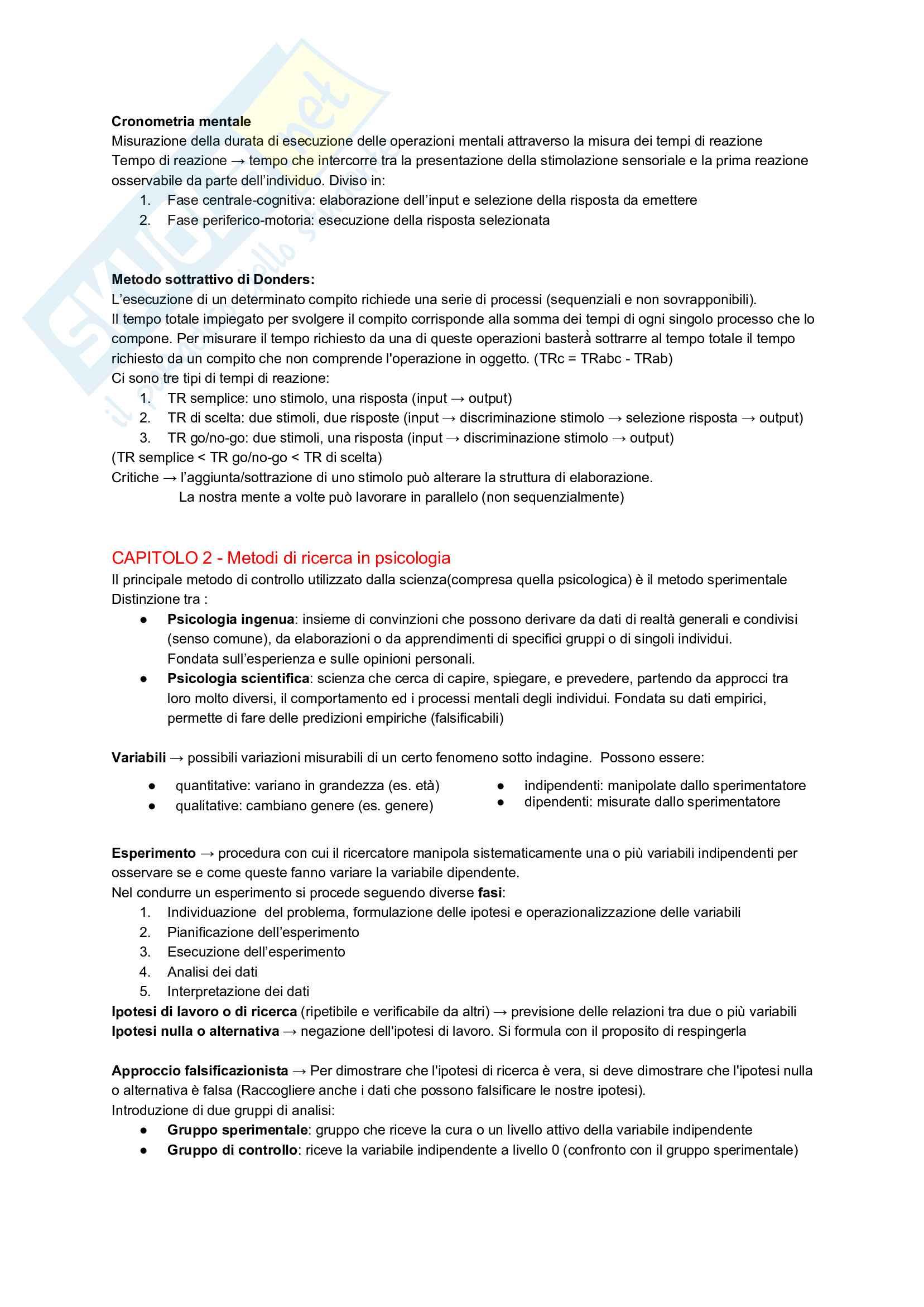Appunti - Psicologia Generale Pag. 2