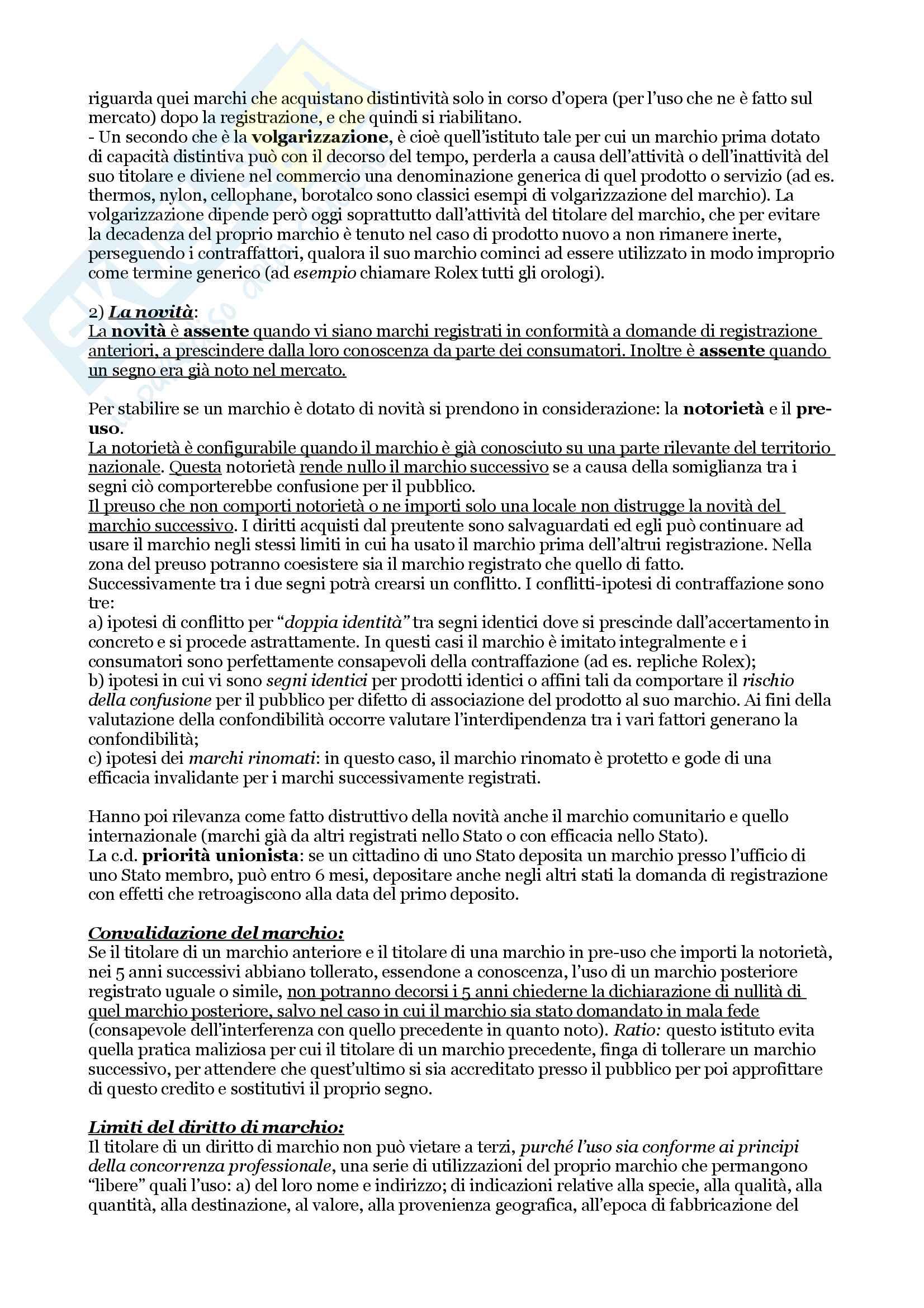 Diritto della proprietà industriale e della concorrenza Pag. 11
