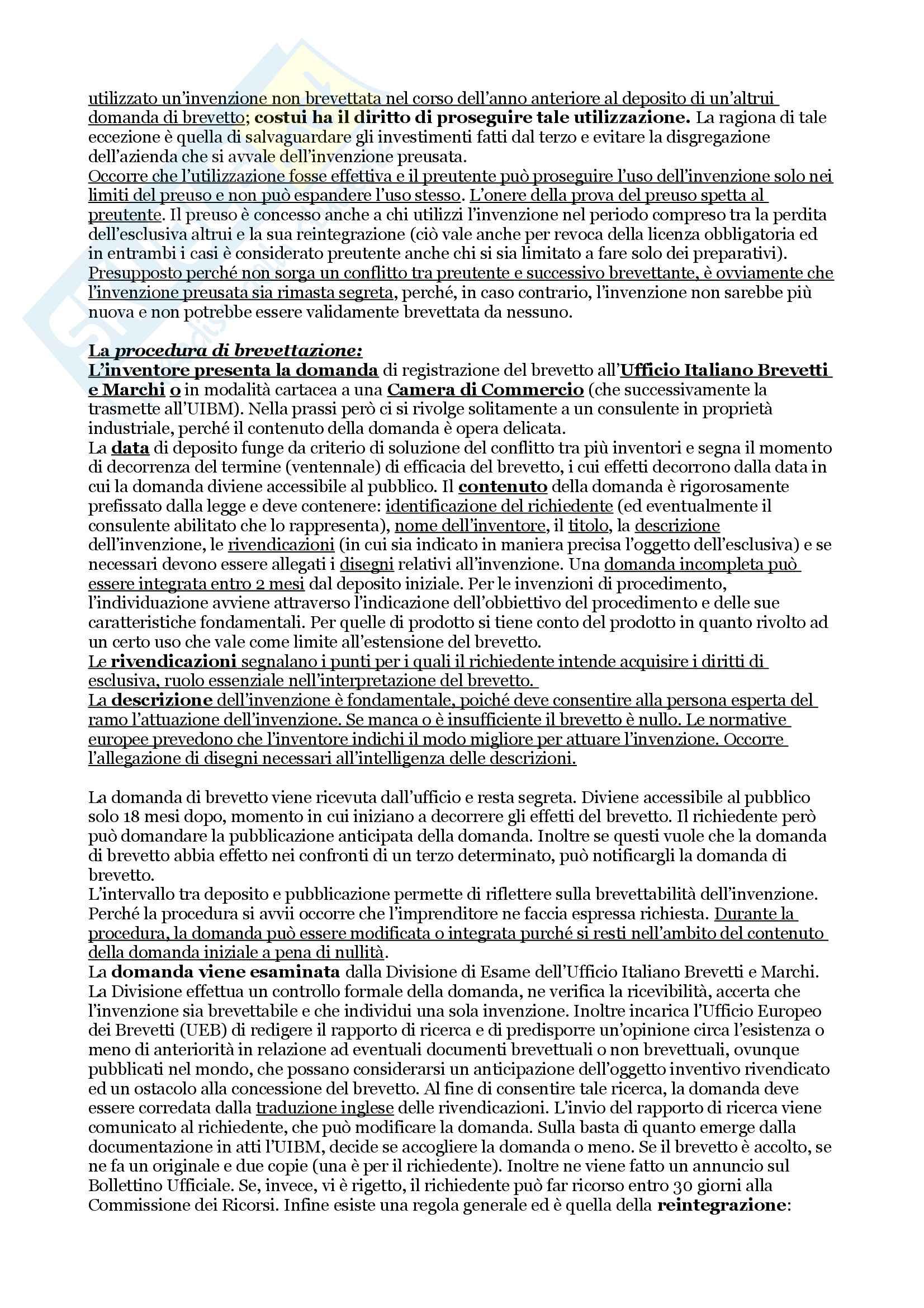 Diritto della proprietà industriale e della concorrenza Pag. 6