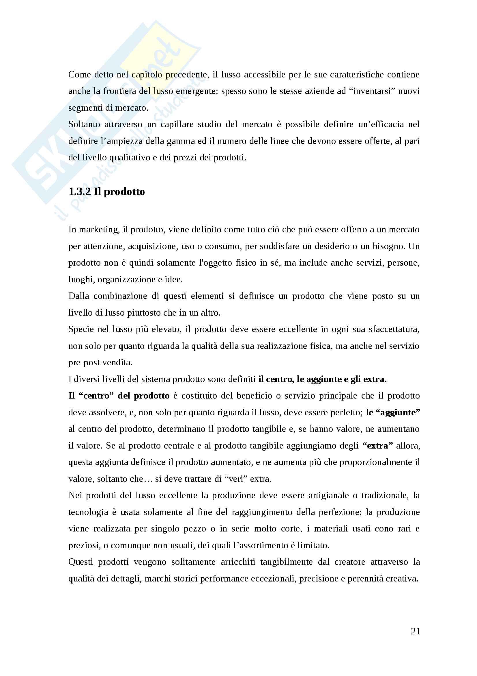 Distribuzione e marketing del consumo di lusso Pag. 21