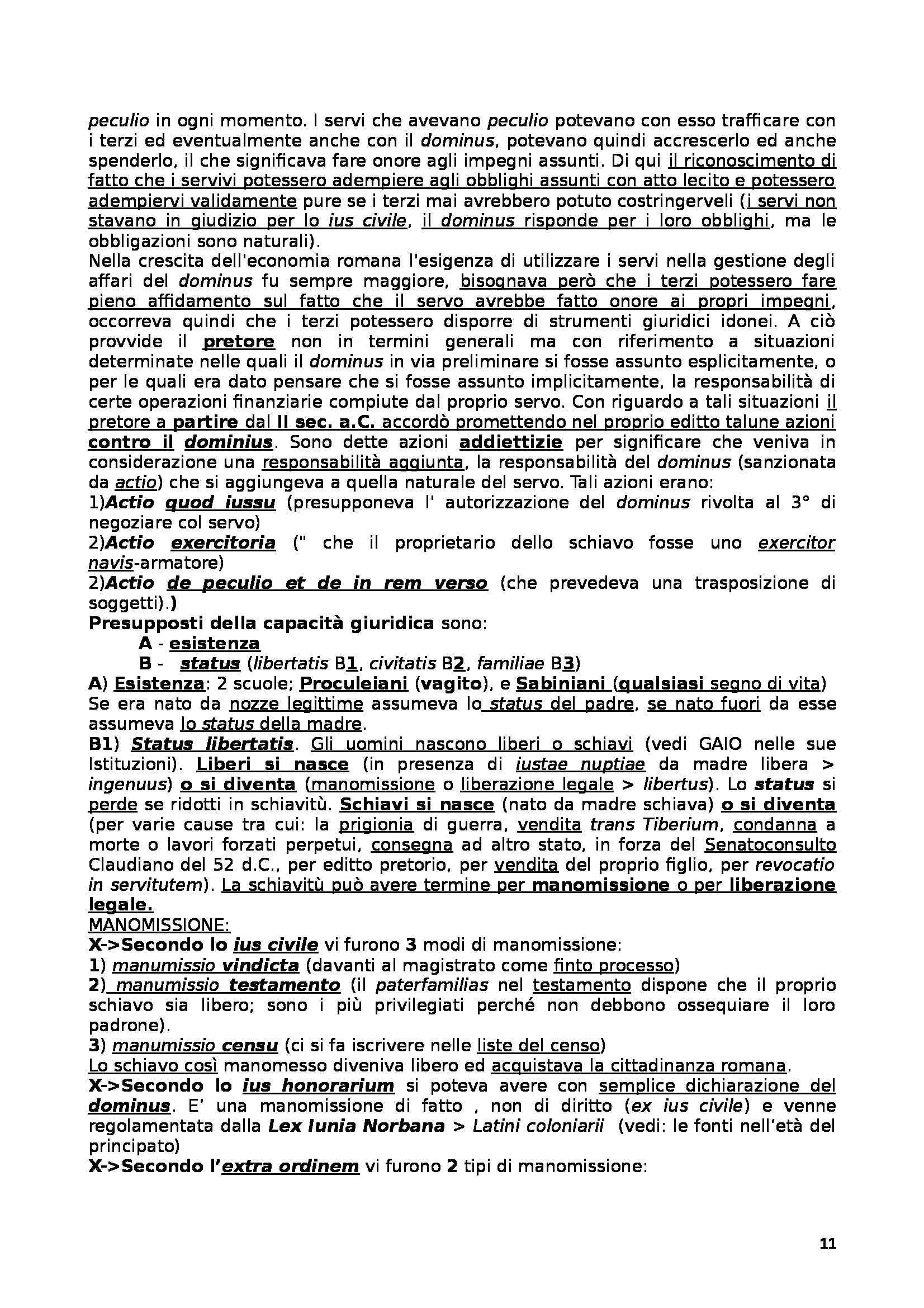 Istituzioni diritto romano - Sintesi della materia Pag. 11