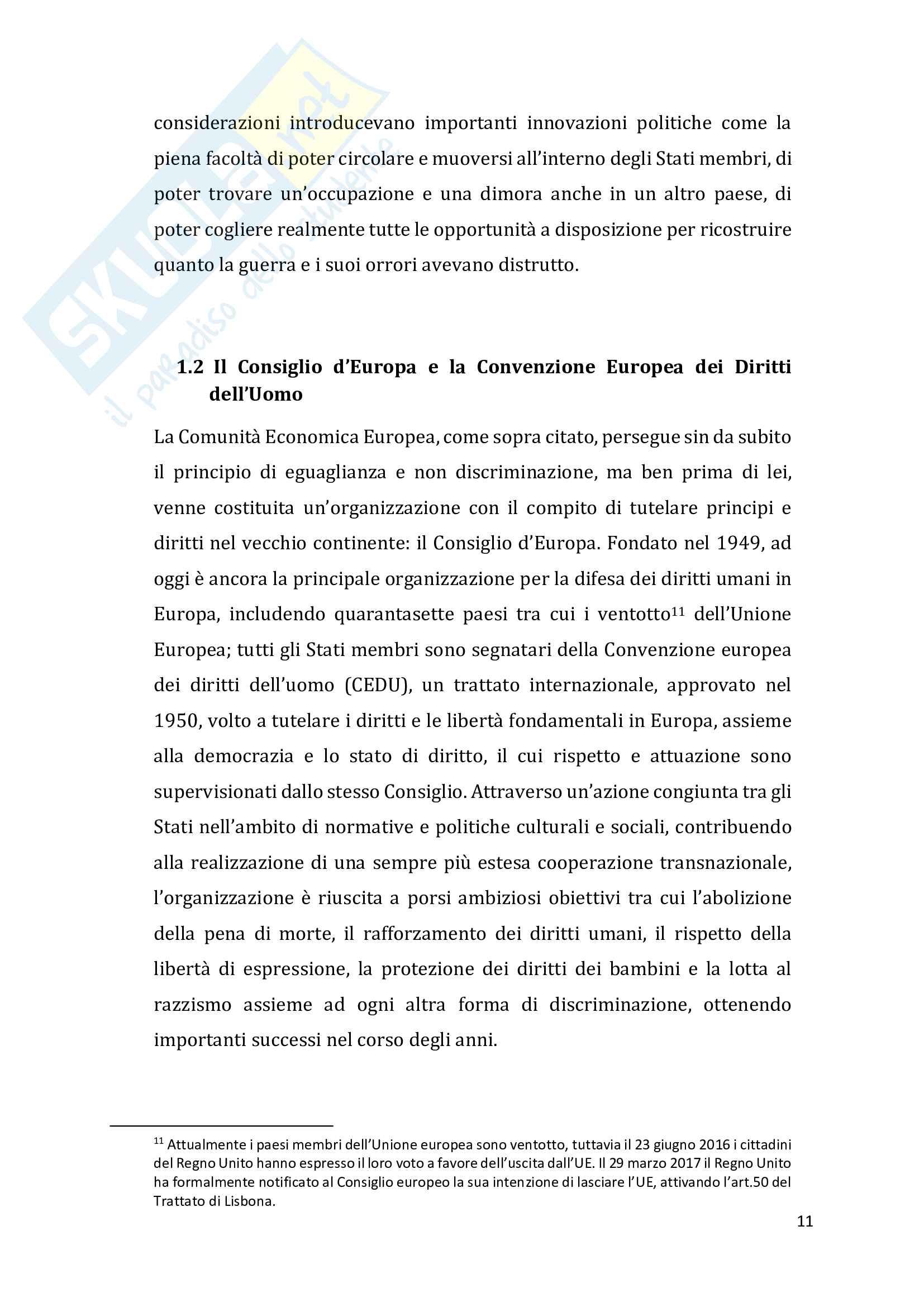 Il principio di non discriminazione fondato sul sesso e la parità di trattamento tra uomini e donne. Evoluzione e prospettive nel Diritto dell'Unione Europea Pag. 11
