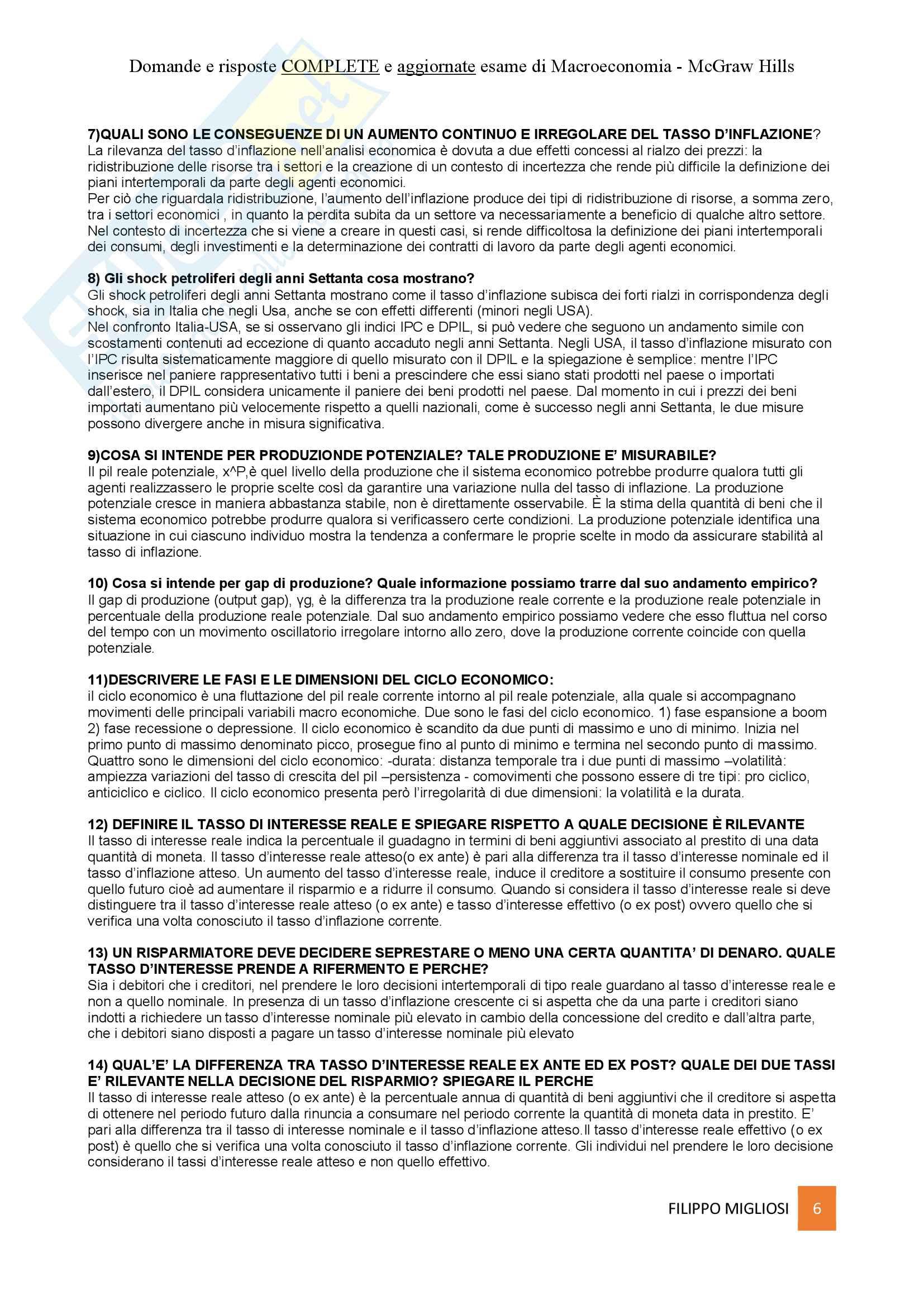 Macroeconomia - Mauro Visaggio - Risposte domande esame Pag. 6