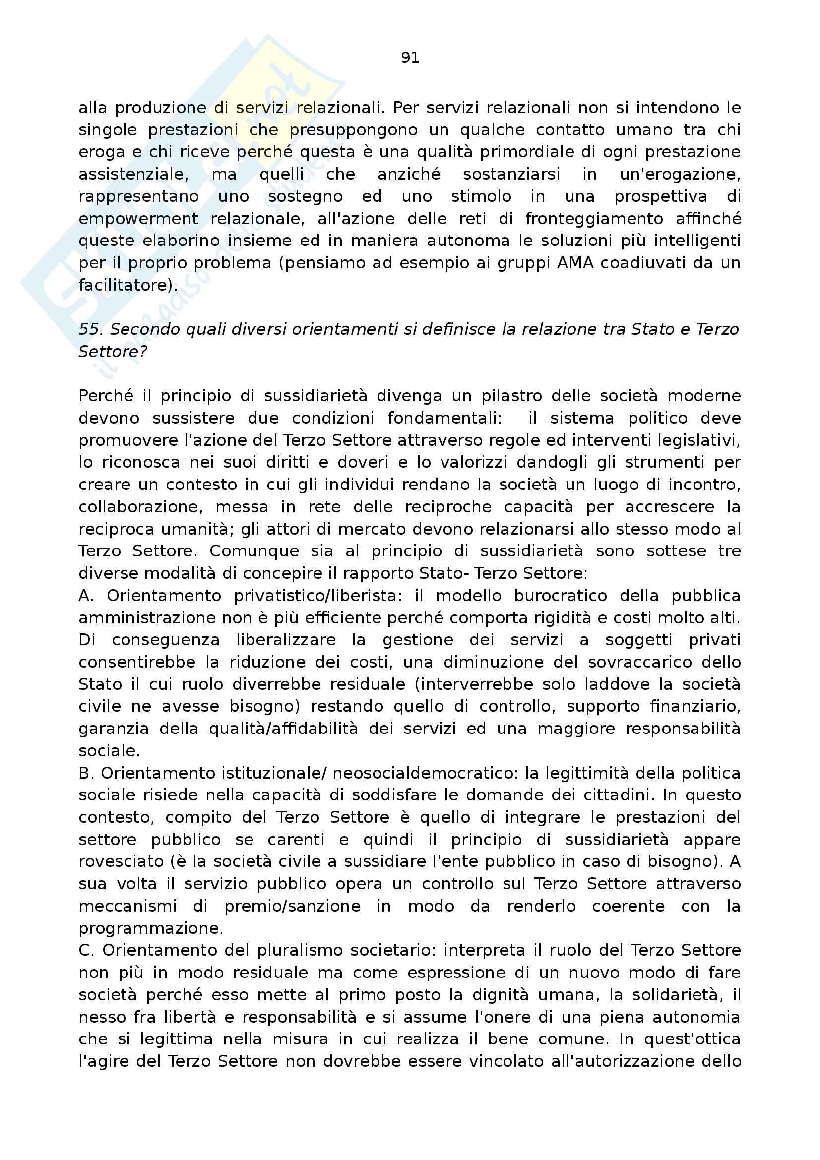 Riassunto esame per Esame di stato per assistente sociale, prof. Folgheraiter, libro consigliato Assistente sociale domanidi M. Luisa Raineri, Erikson Pag. 91