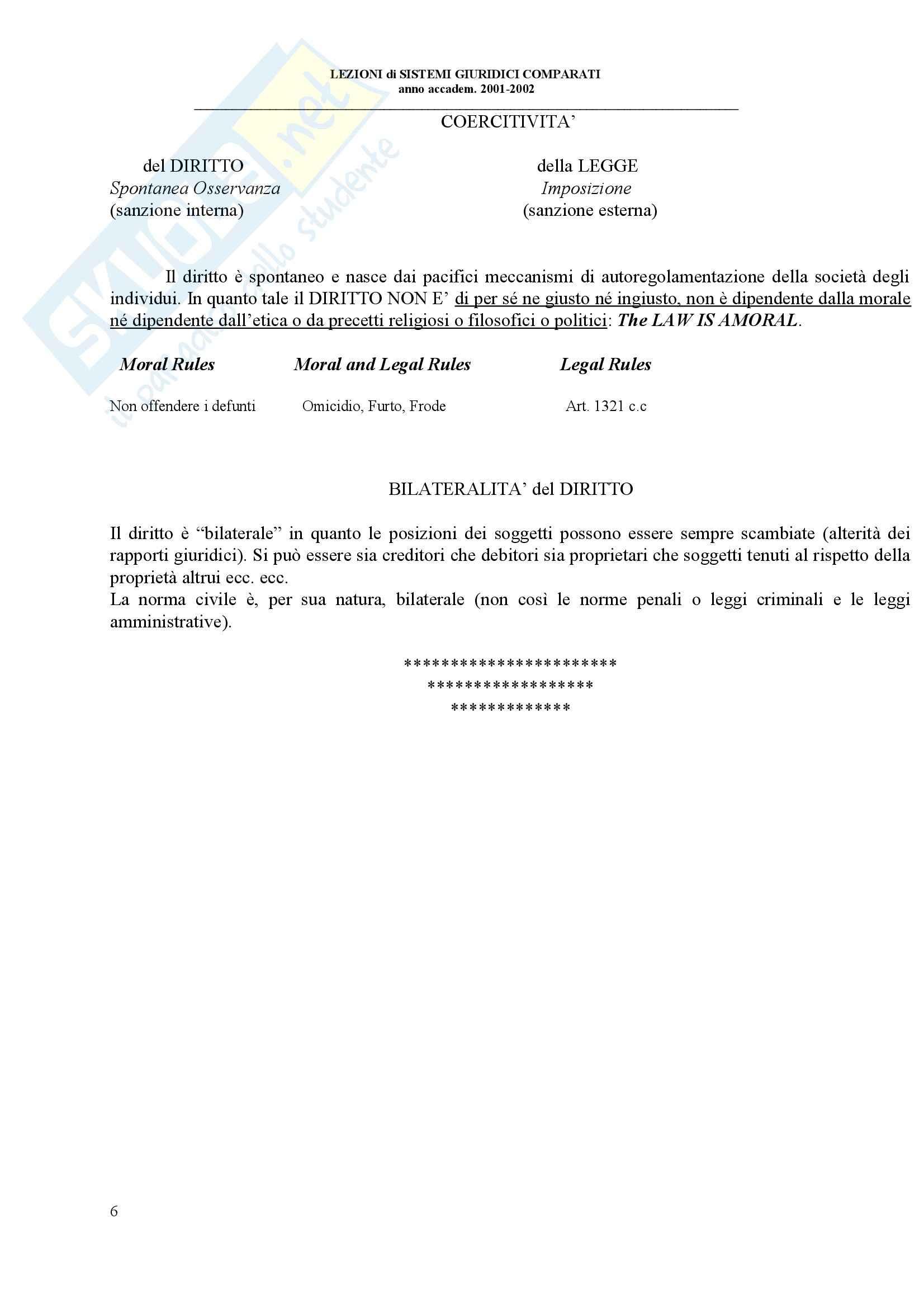 Sistemi giuridici comparati - Appunti Pag. 6